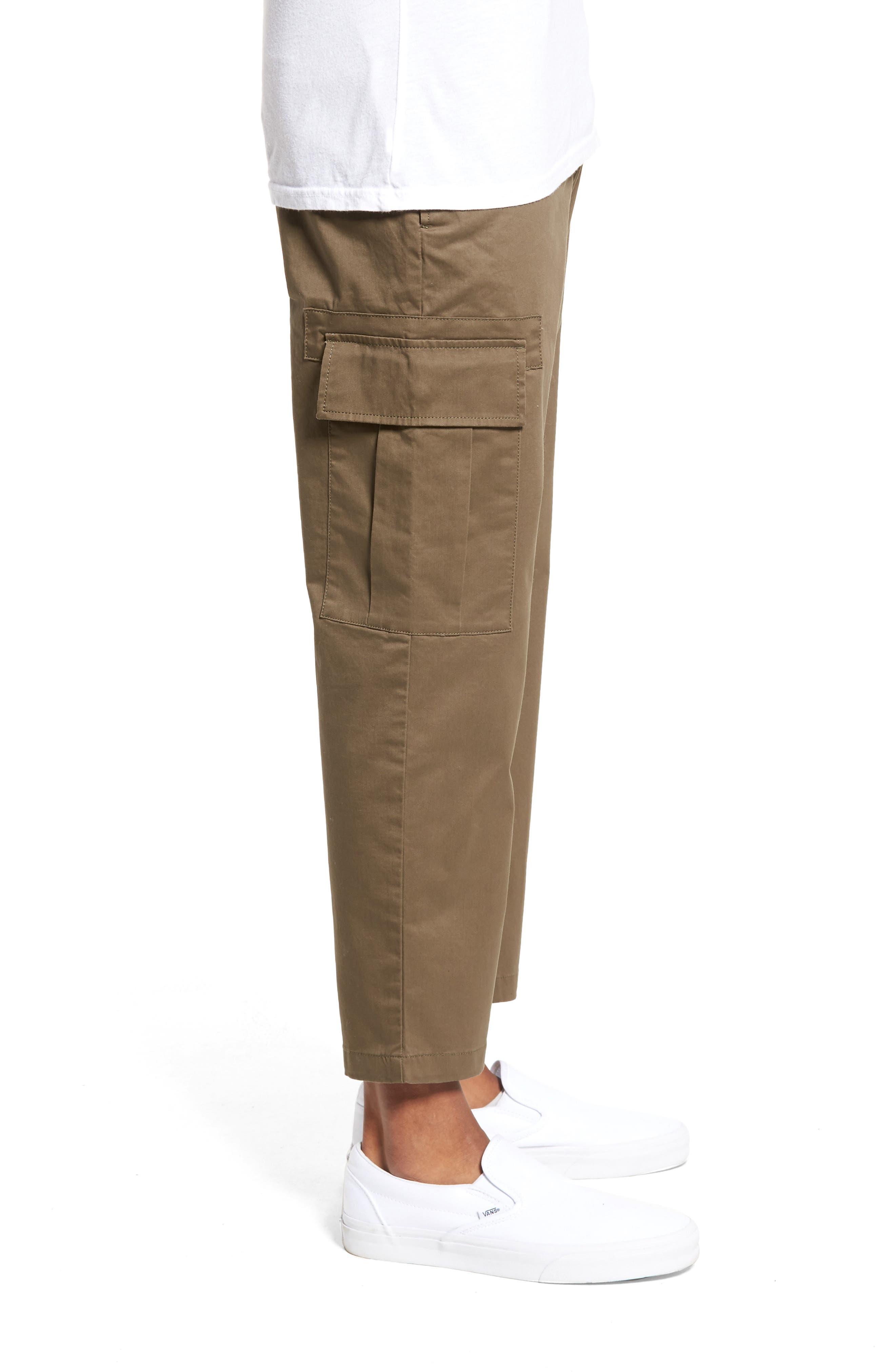 Crop Cargo Pants,                             Alternate thumbnail 3, color,                             311