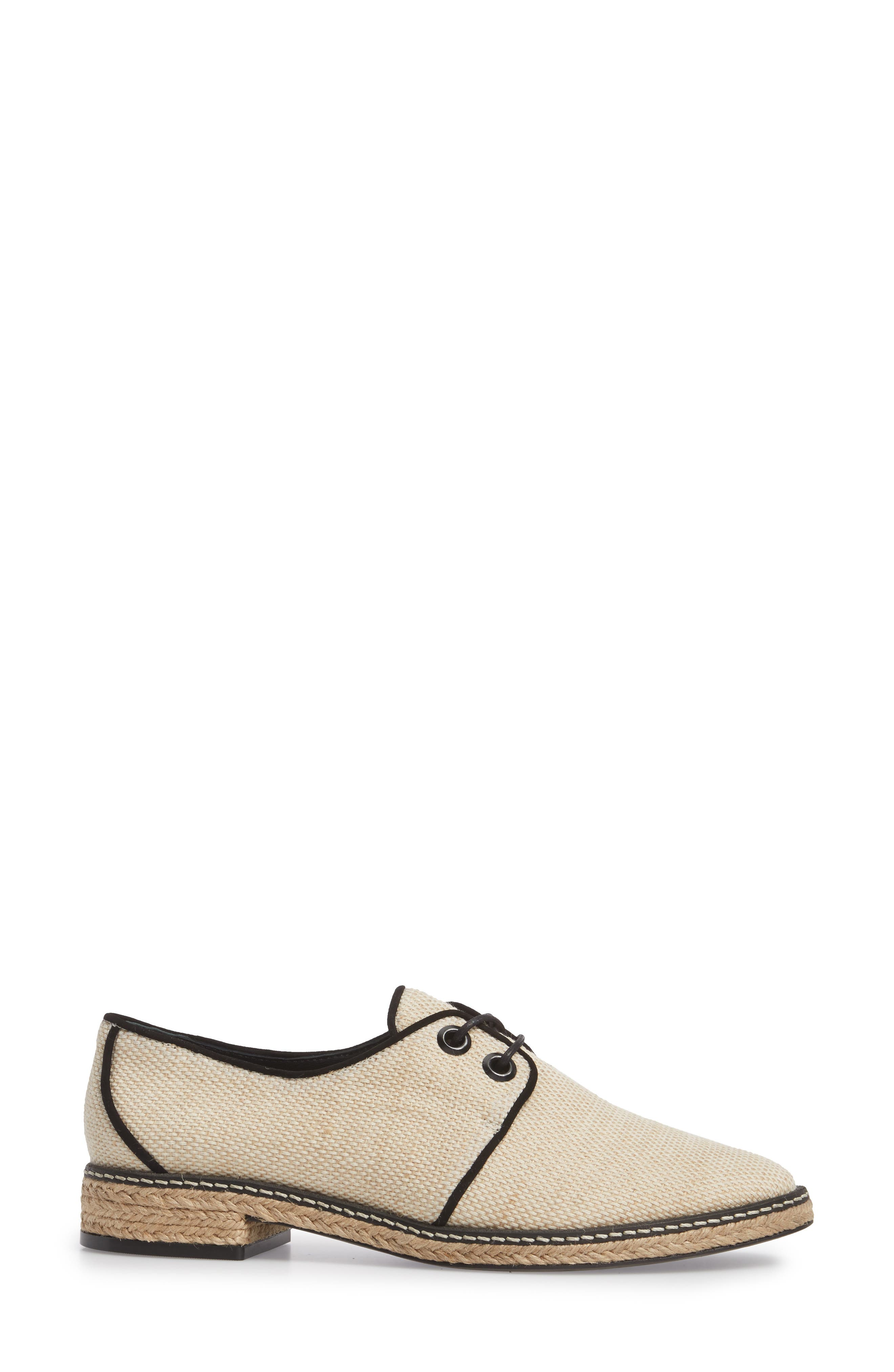 Fawn Espadrille Oxford,                             Alternate thumbnail 3, color,                             254