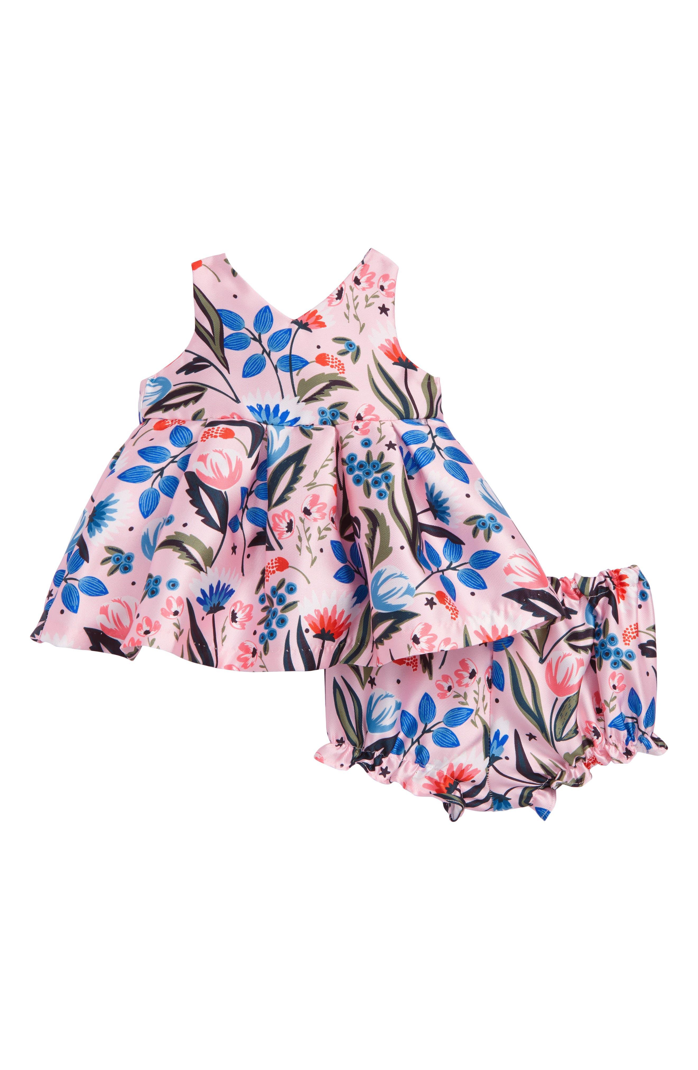 Floral Crossback Dress,                             Main thumbnail 1, color,                             650