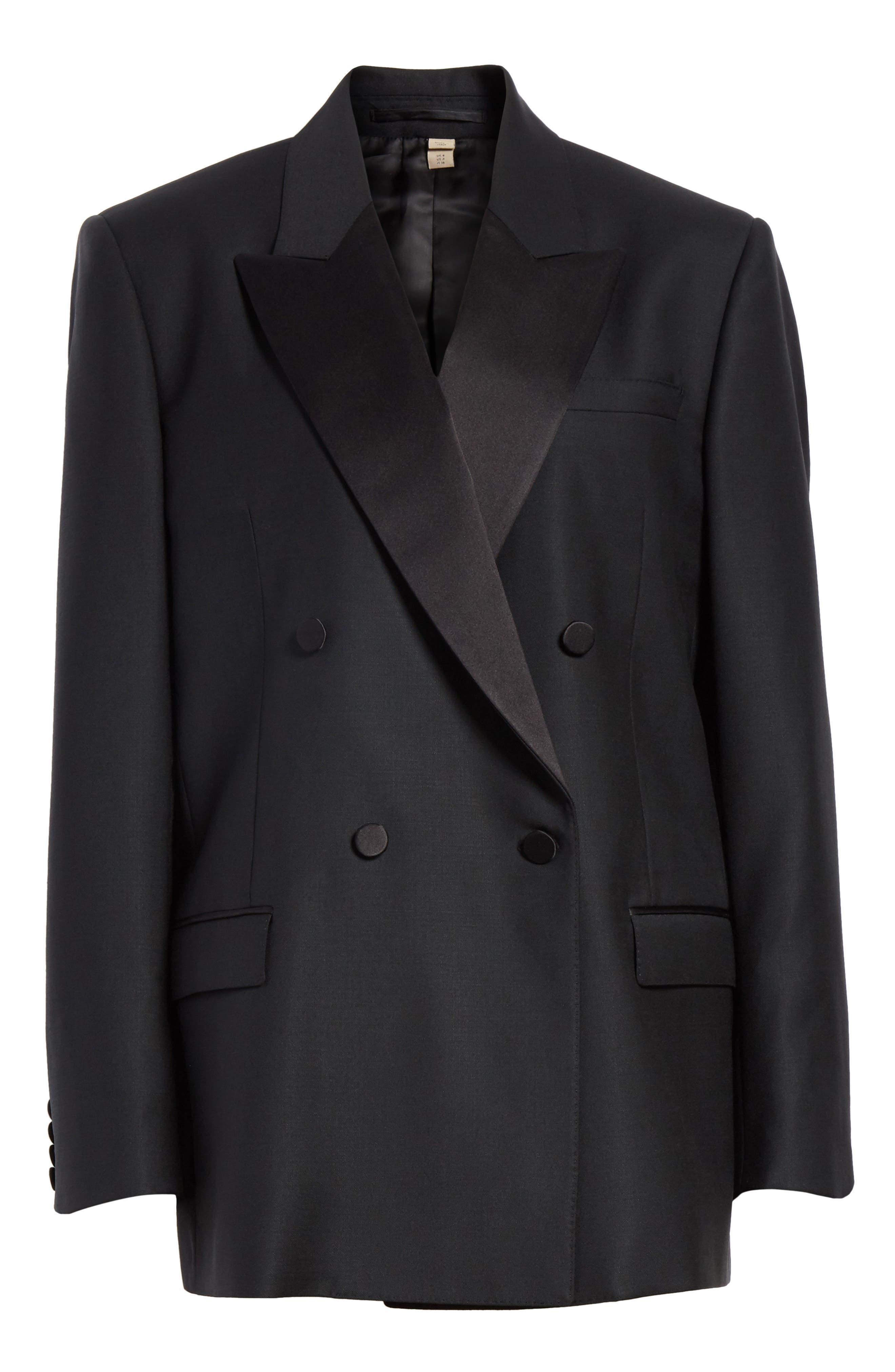 Thompson Wool & Mohair Blazer,                             Alternate thumbnail 6, color,                             BLACK