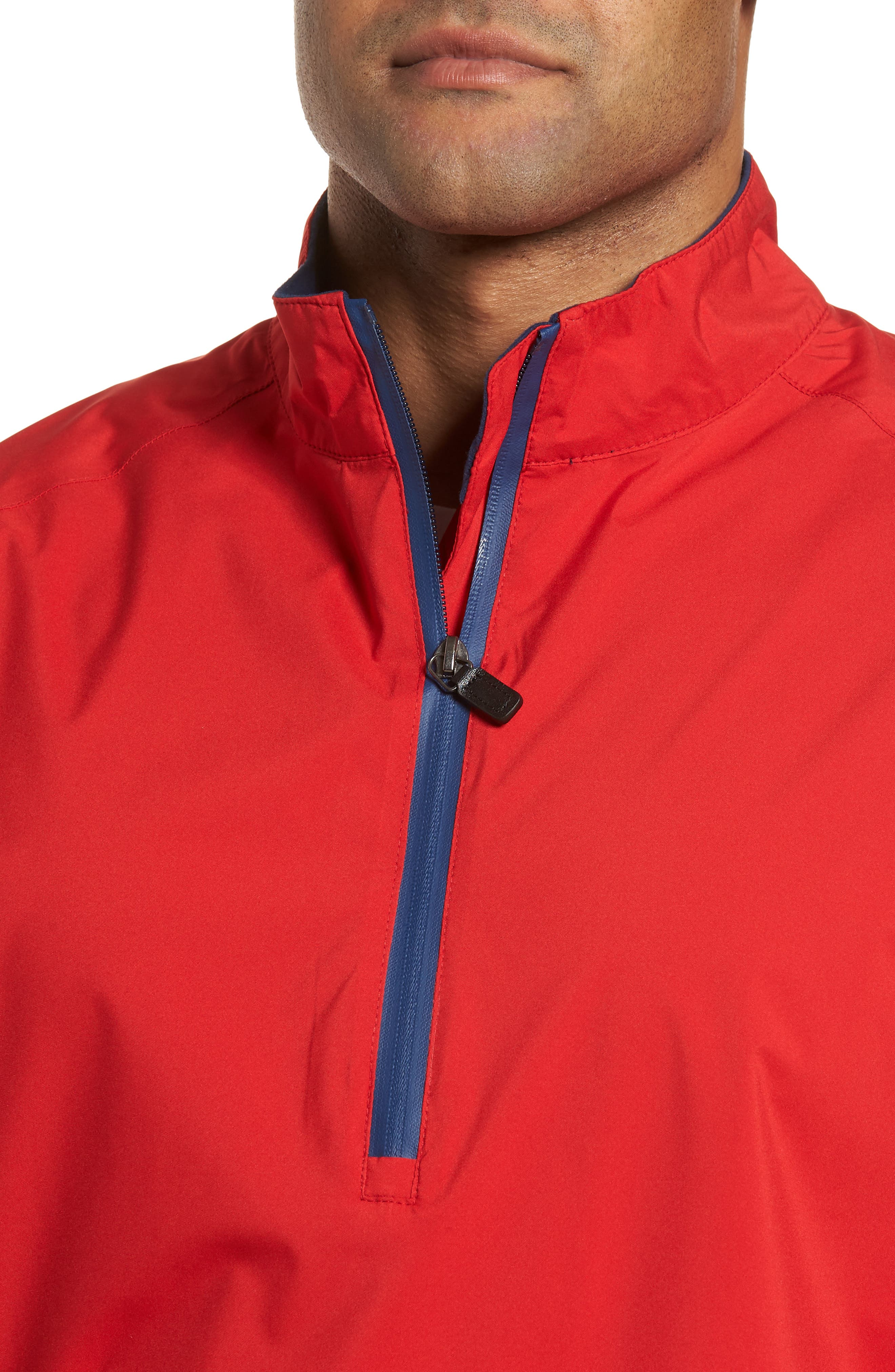 Regular Fit Half Zip Performance Pullover,                             Alternate thumbnail 8, color,