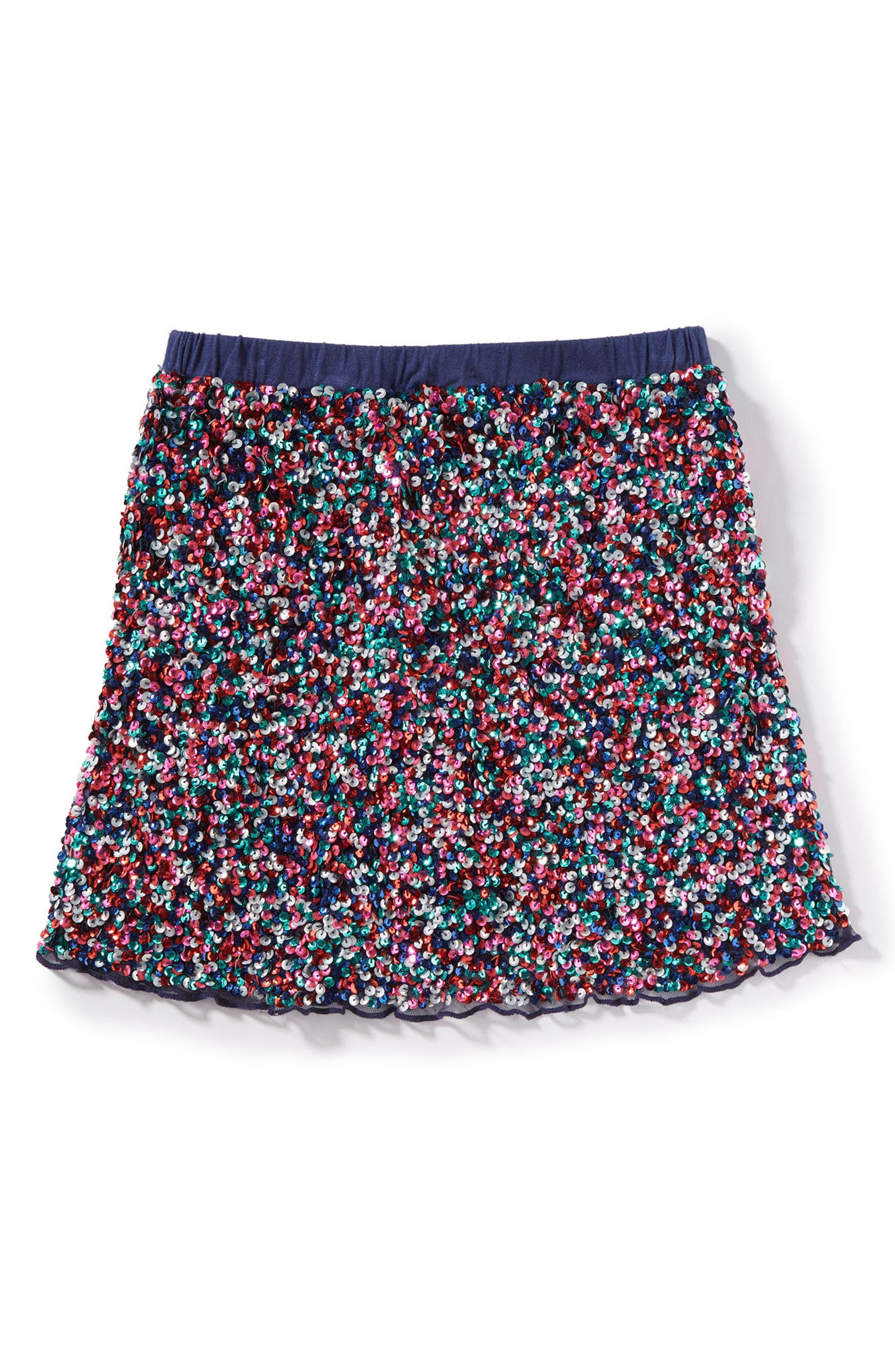 Ella Sequin Skirt,                         Main,                         color, 410