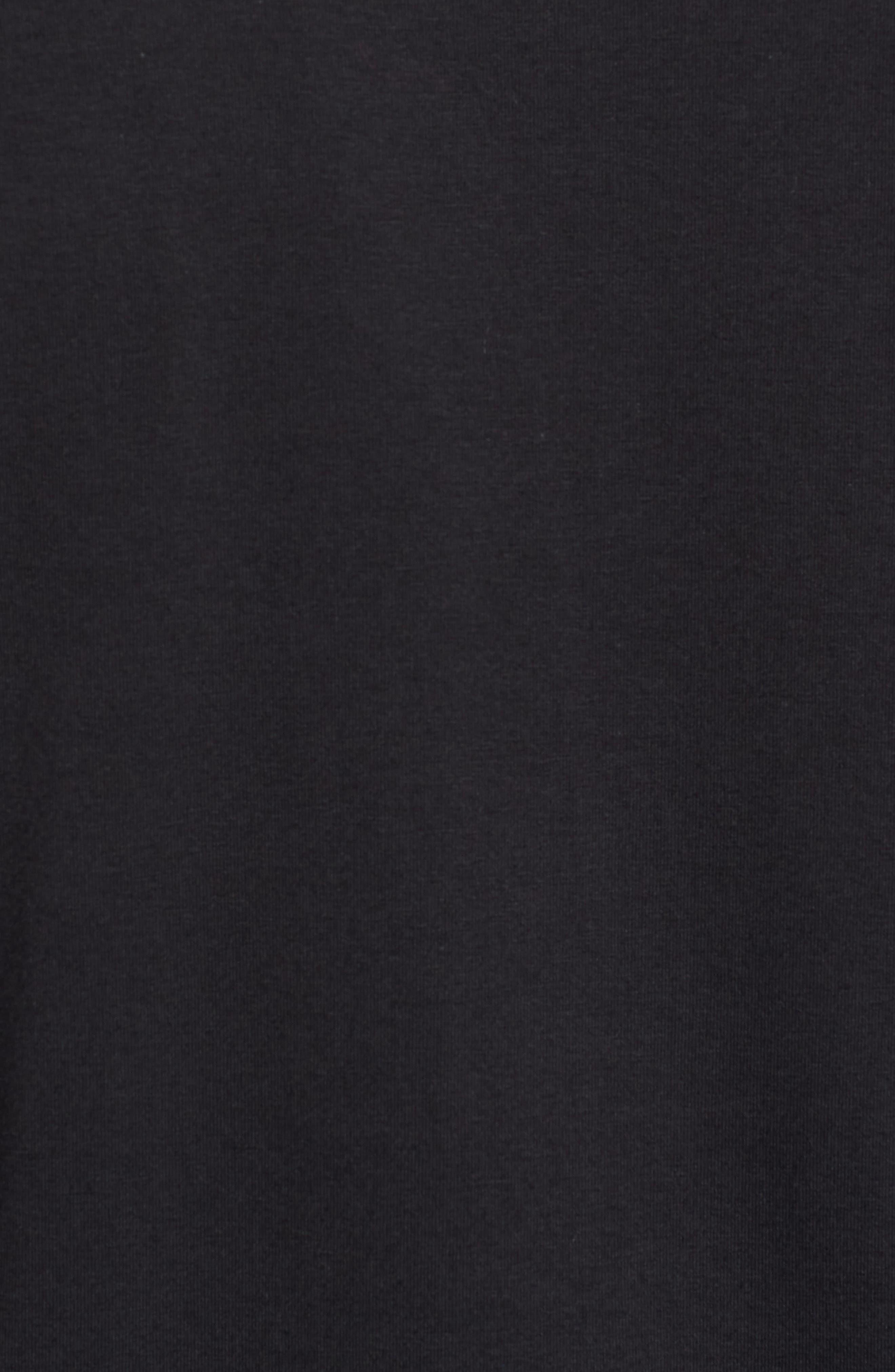 Carrollton Quarter Zip Sweatshirt,                             Alternate thumbnail 5, color,                             BLACK/ GUNMETAL