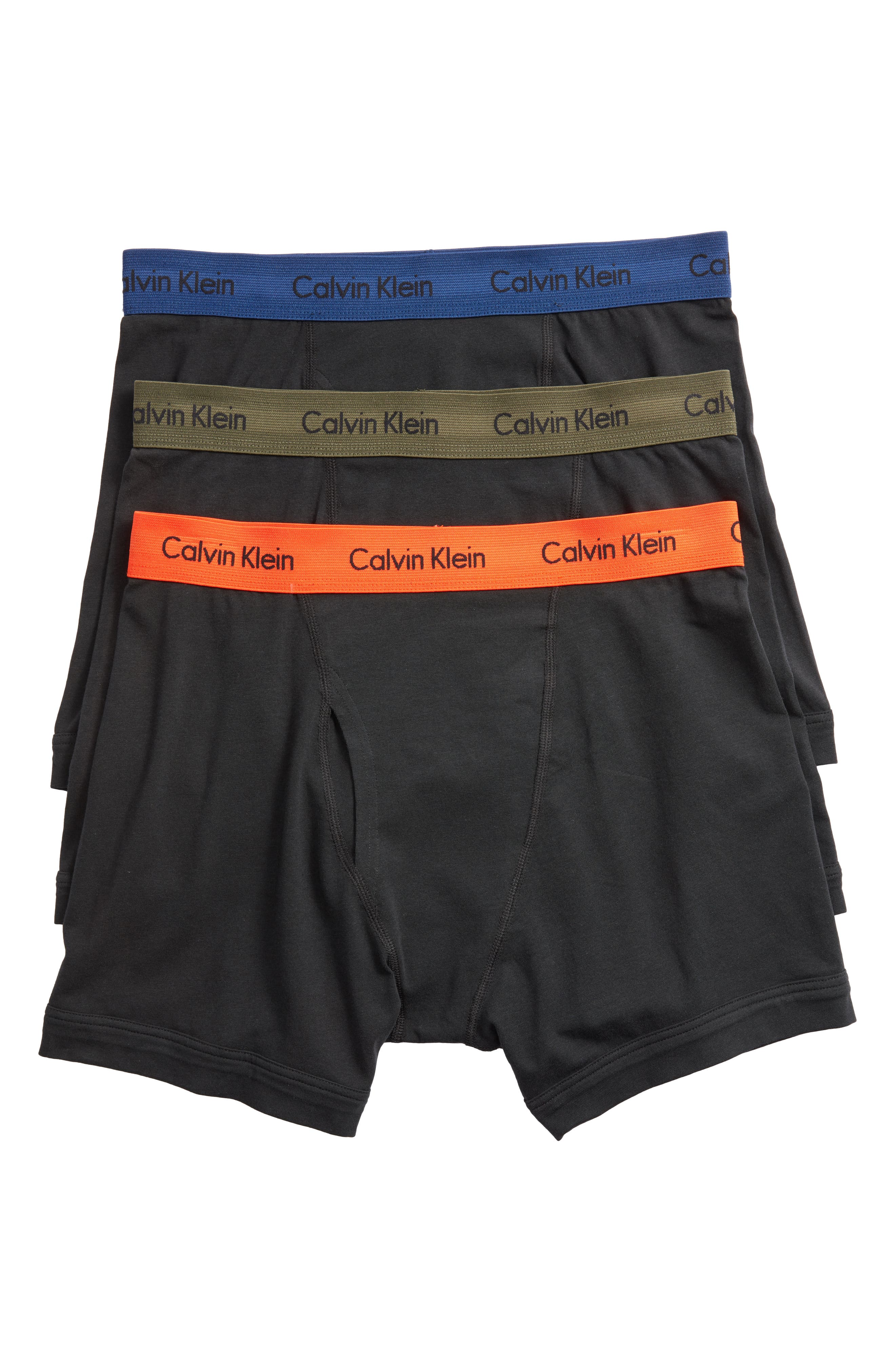 3-Pack Boxer Briefs,                             Main thumbnail 1, color,                             BLACK W/ GREEN/ BLUE/ ORANGE