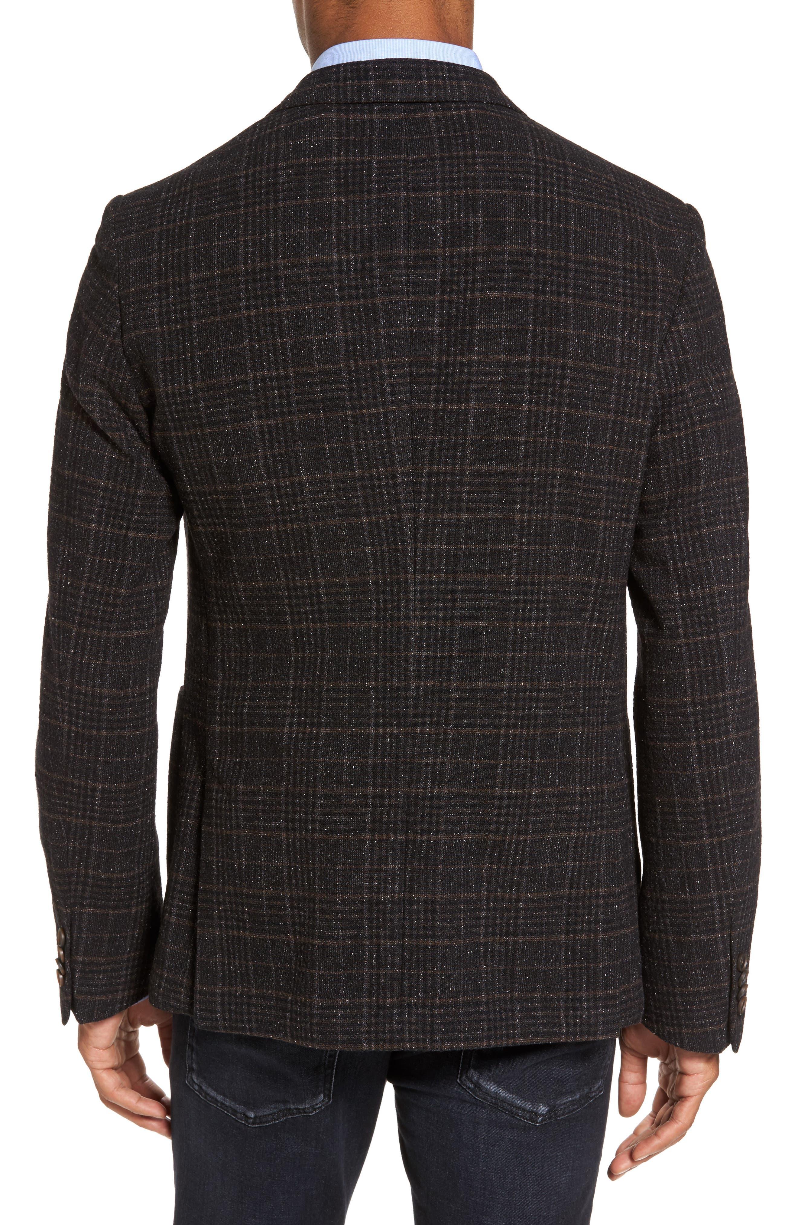 Nold Trim Fit Plaid Wool Blend Sport Coat,                             Alternate thumbnail 2, color,                             202