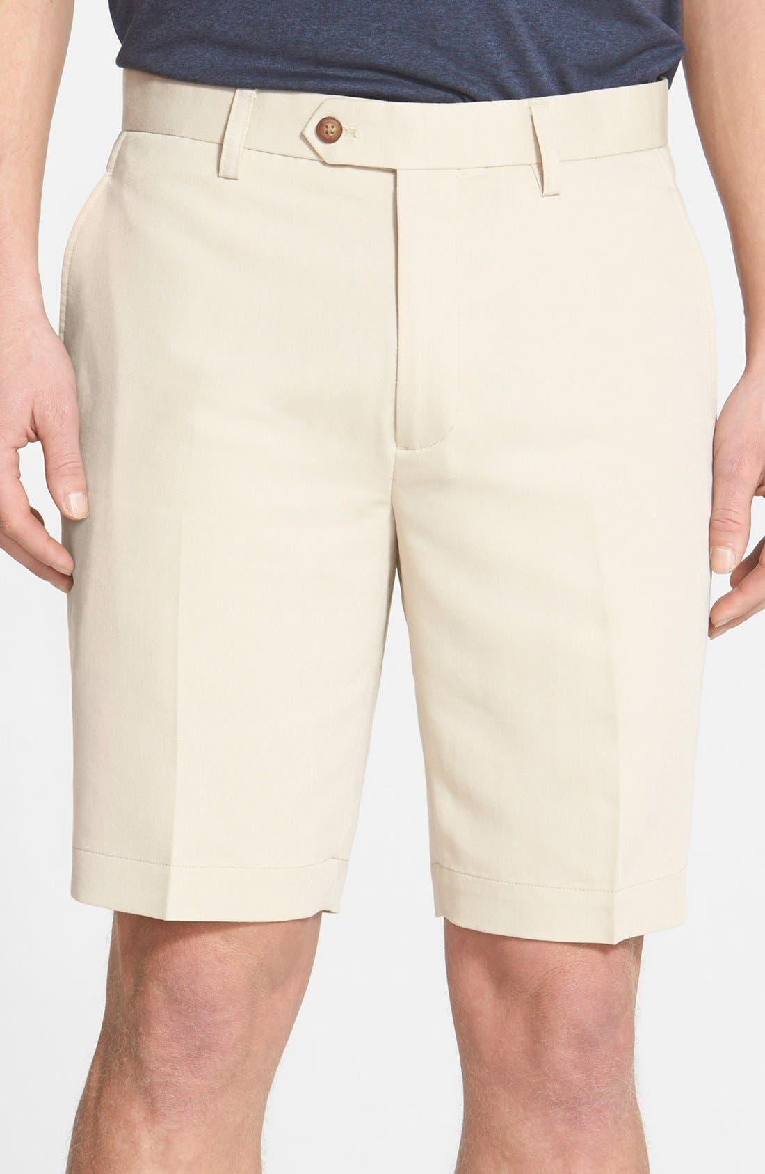 Microfiber Twill Shorts,                             Main thumbnail 3, color,
