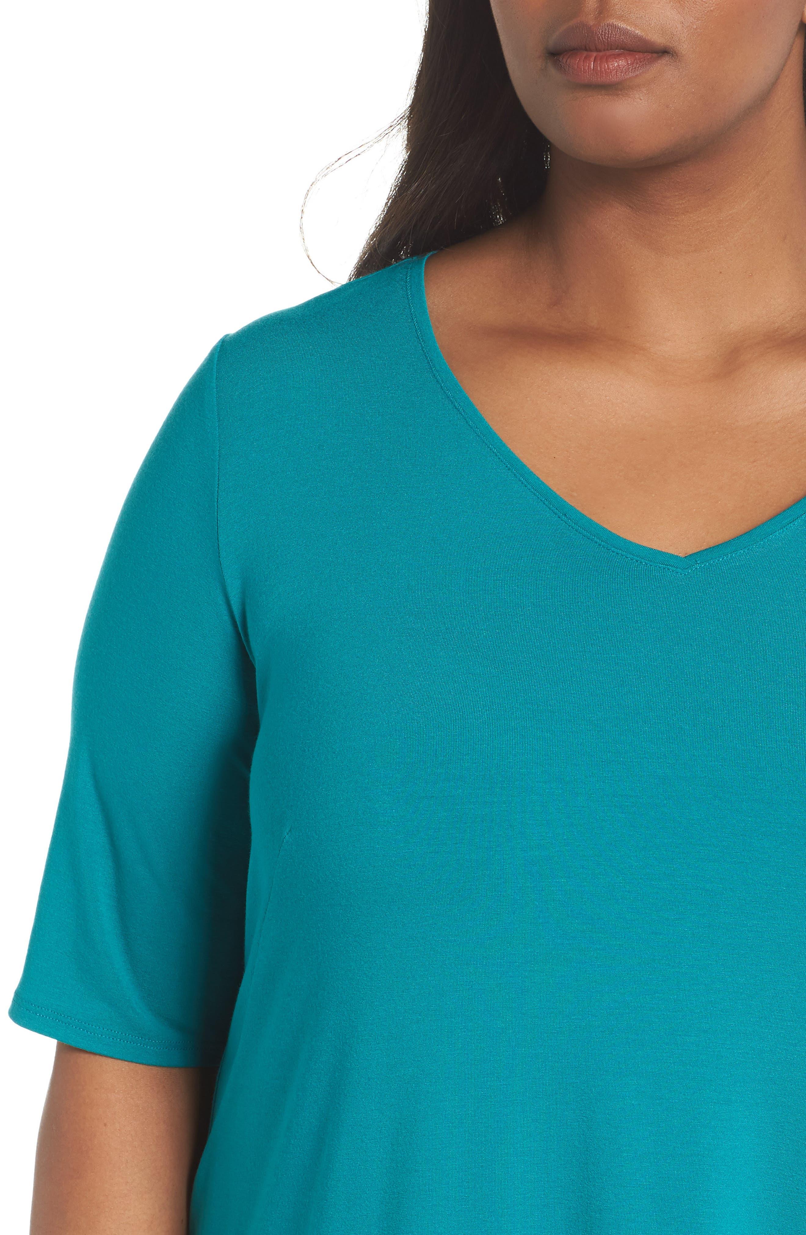 V-Neck Stretch Jersey Shift Dress,                             Alternate thumbnail 20, color,