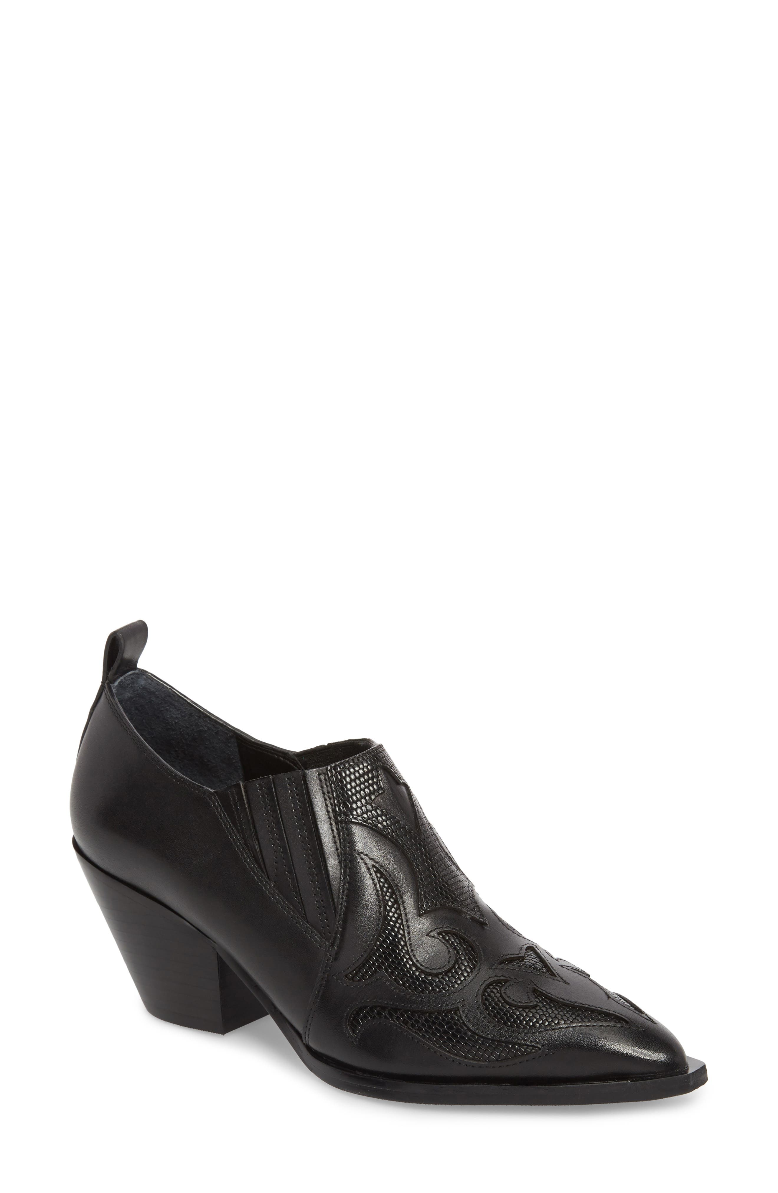 MARC FISHER LTD Charly Western Bootie, Main, color, 001