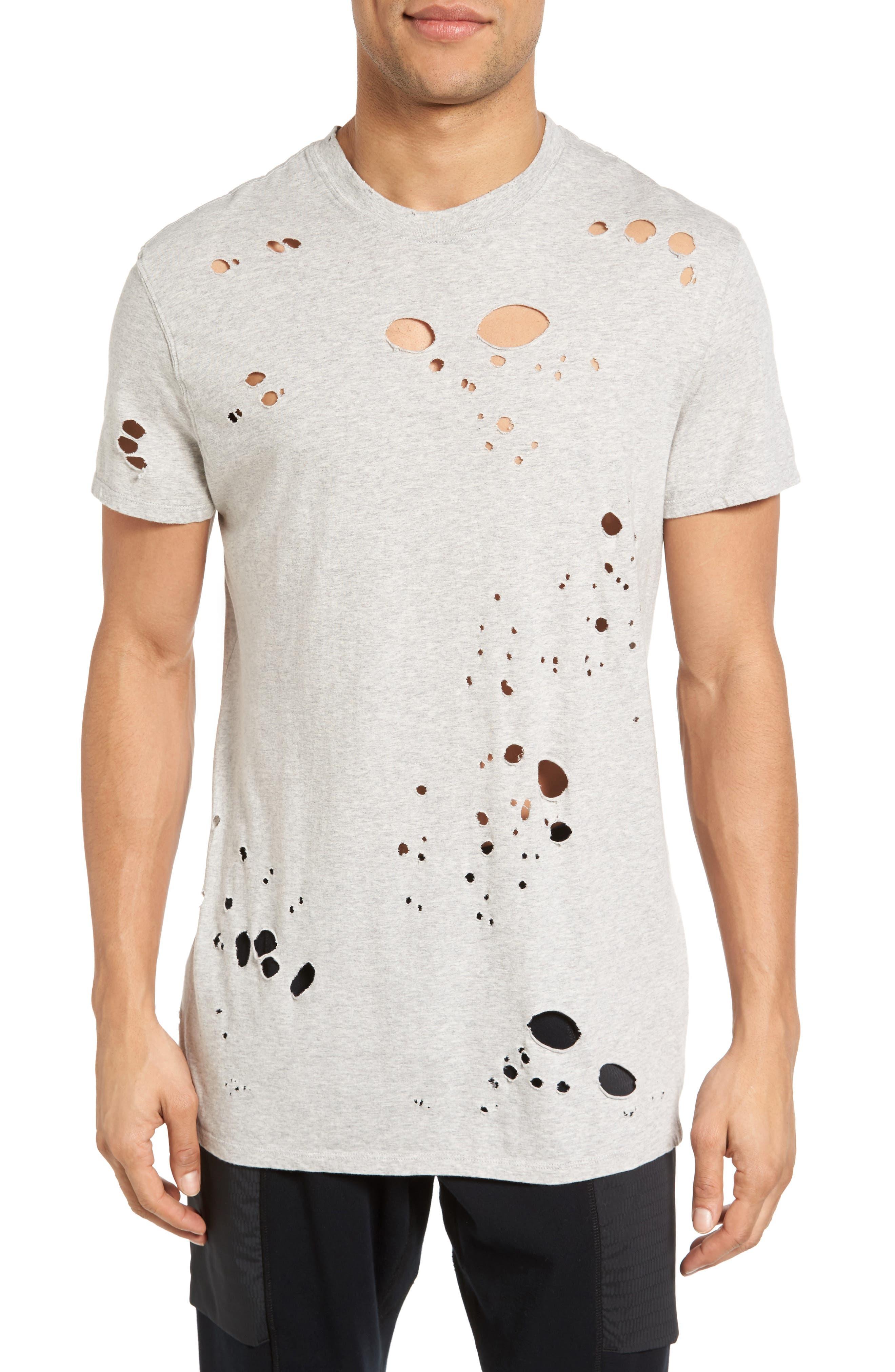 Torn Crewneck T-Shirt,                             Main thumbnail 4, color,