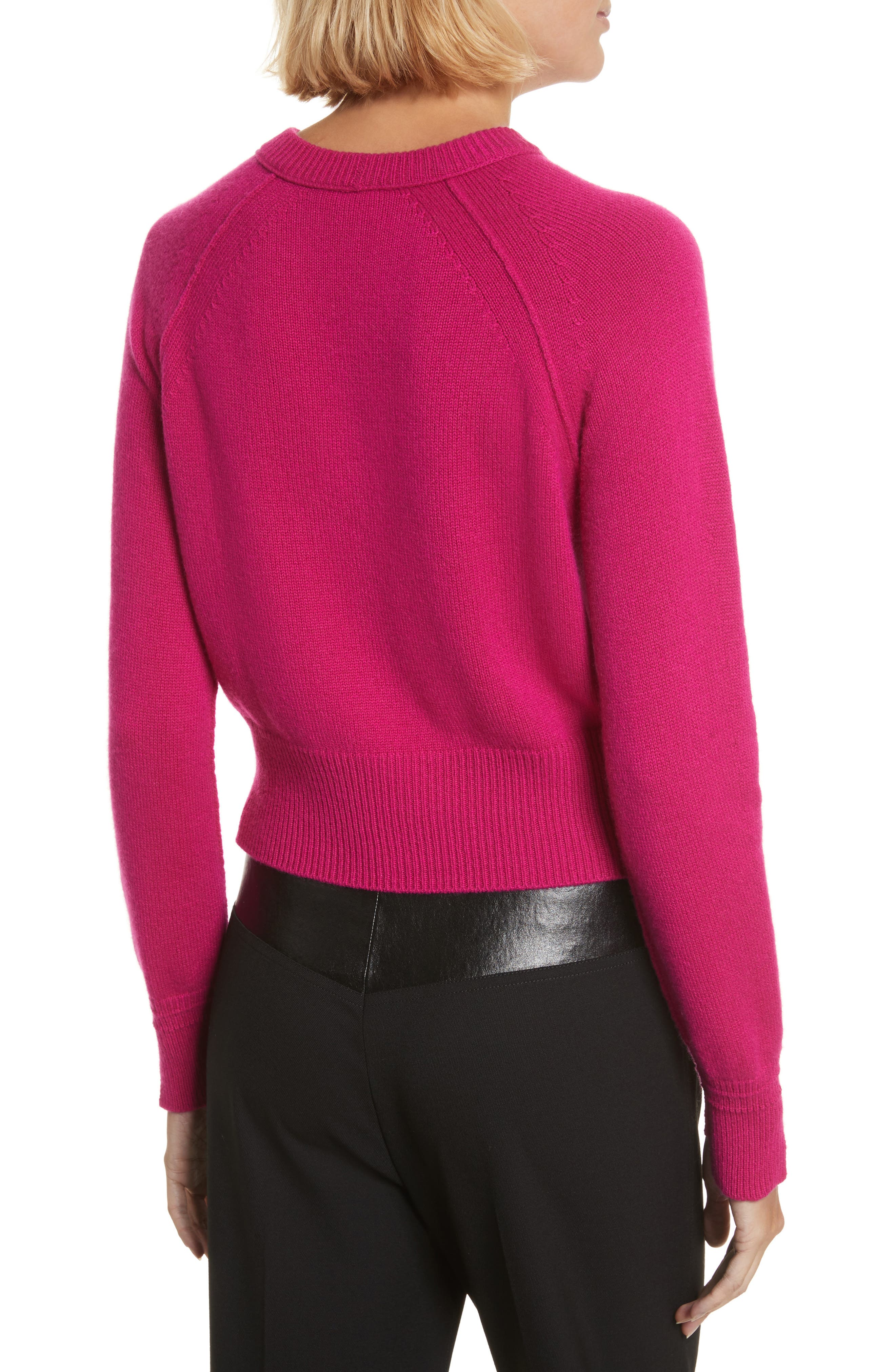 Cashmere Crop Sweater,                             Alternate thumbnail 2, color,                             655