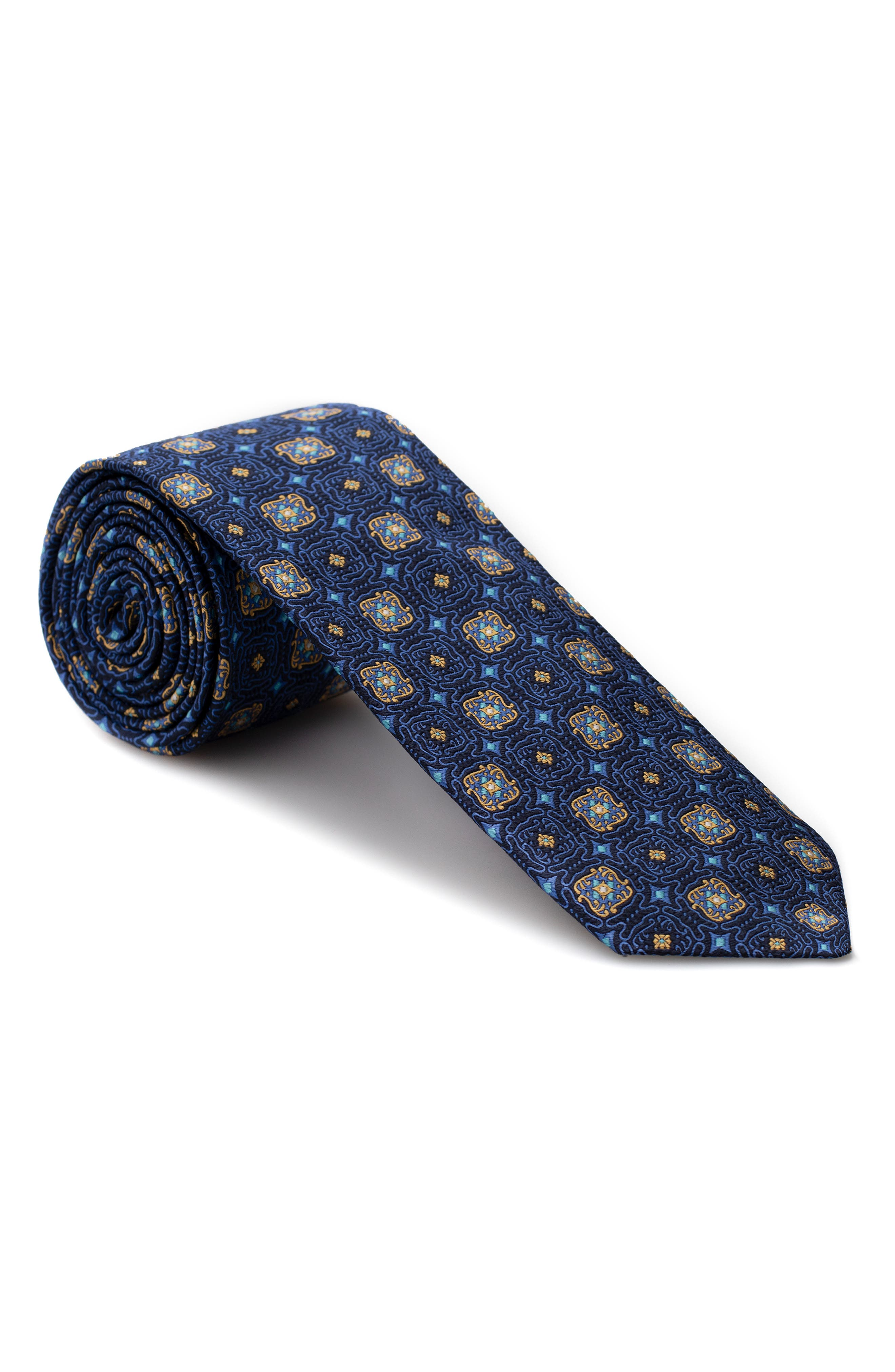 Medallion Silk Tie,                             Main thumbnail 1, color,                             400