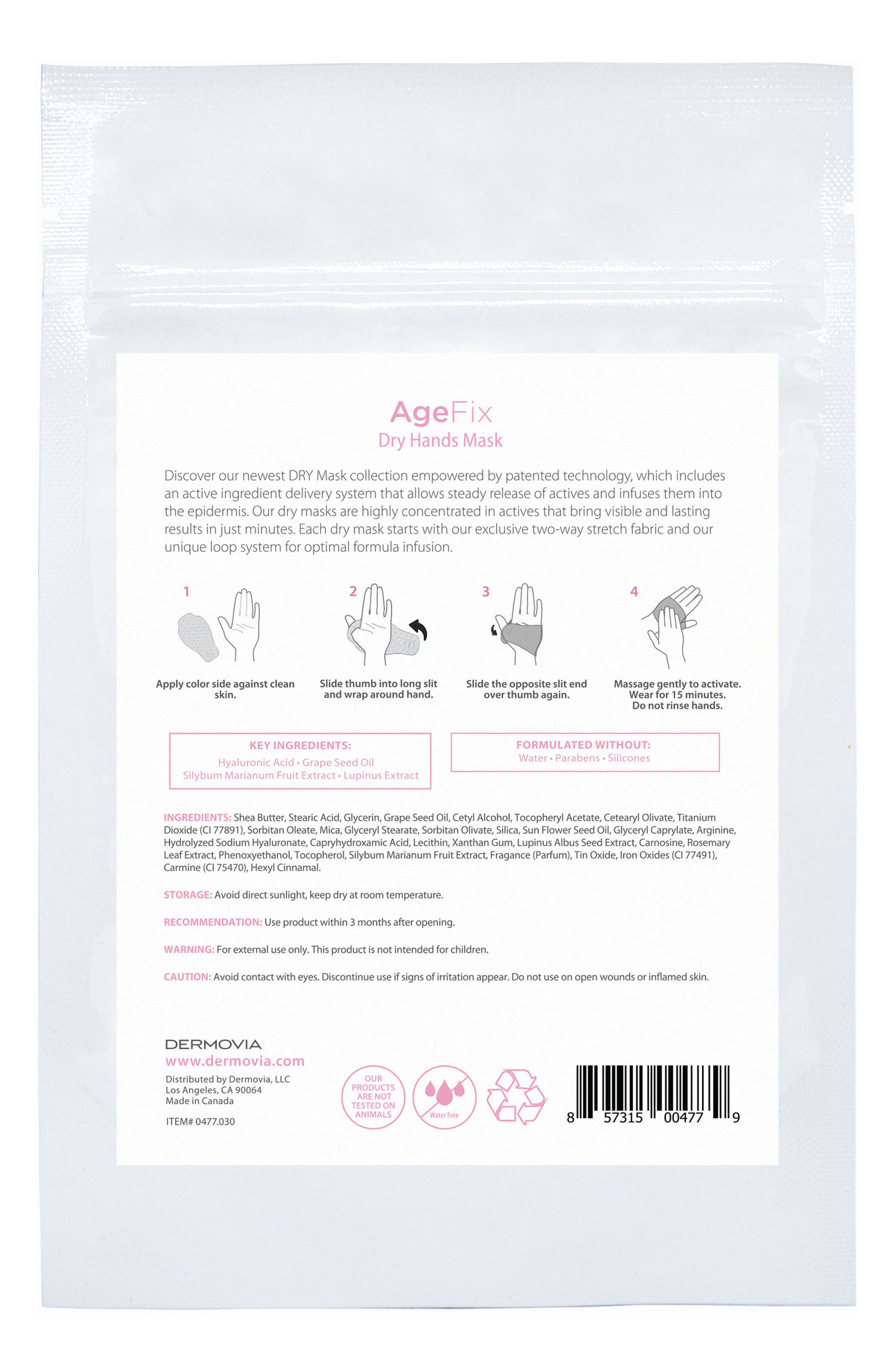 DRY Mask AgeFix Waterless Hand Mask,                             Alternate thumbnail 2, color,                             000