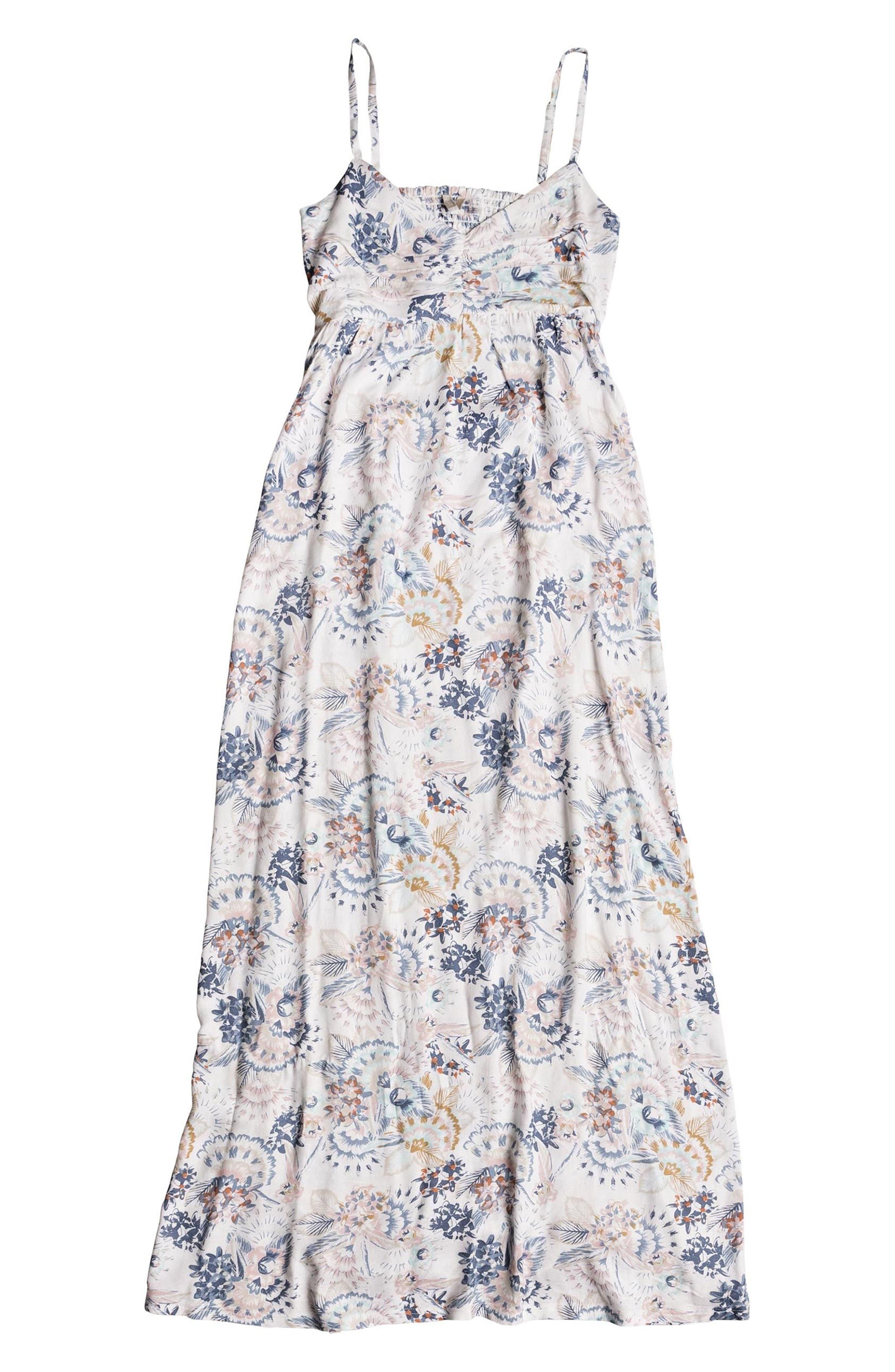 ROXY,                             Brilliant Stars Maxi Dress,                             Alternate thumbnail 4, color,                             900