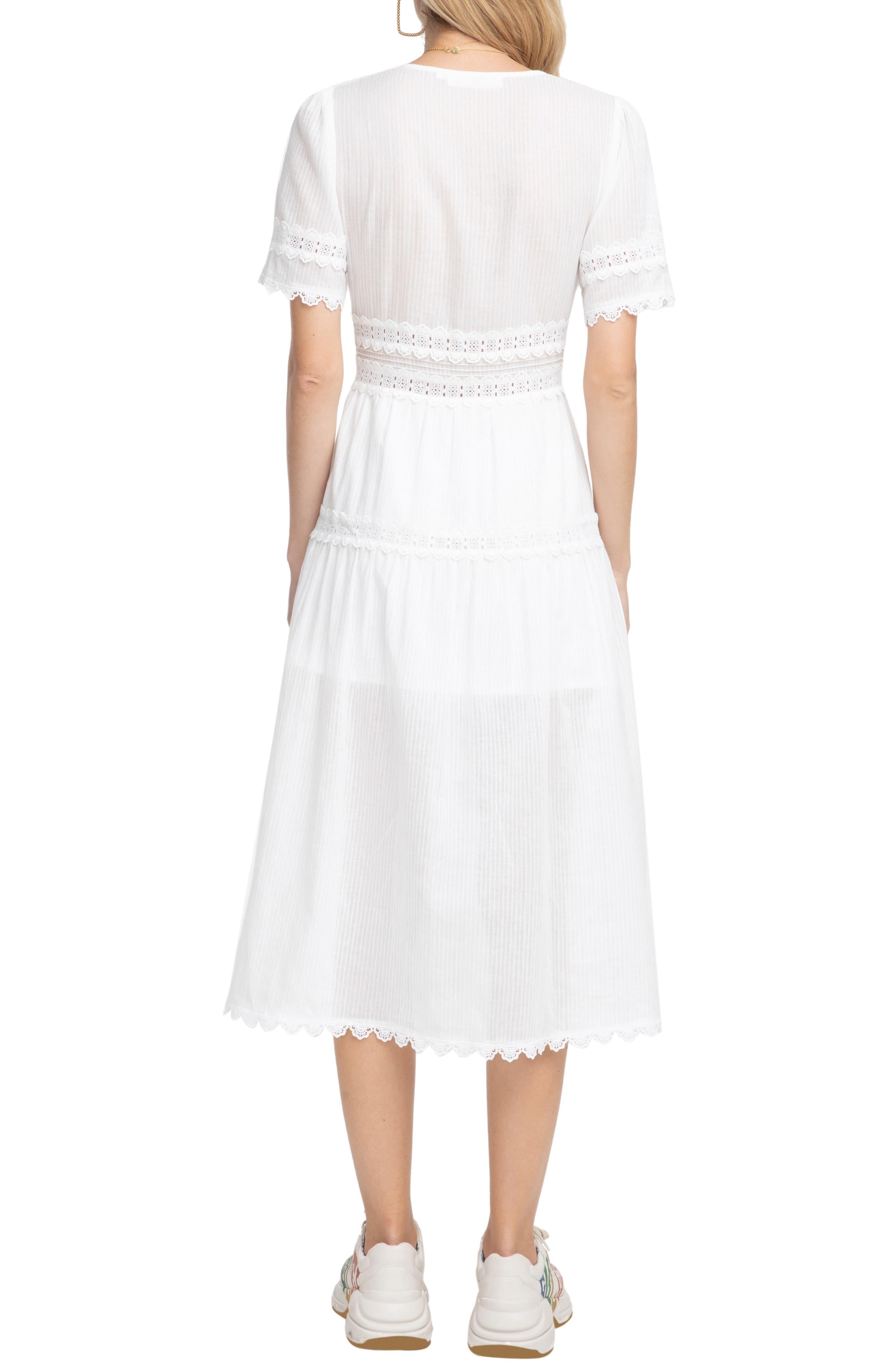 ASTR THE LABEL,                             Ari Midi Dress,                             Alternate thumbnail 2, color,                             WHITE