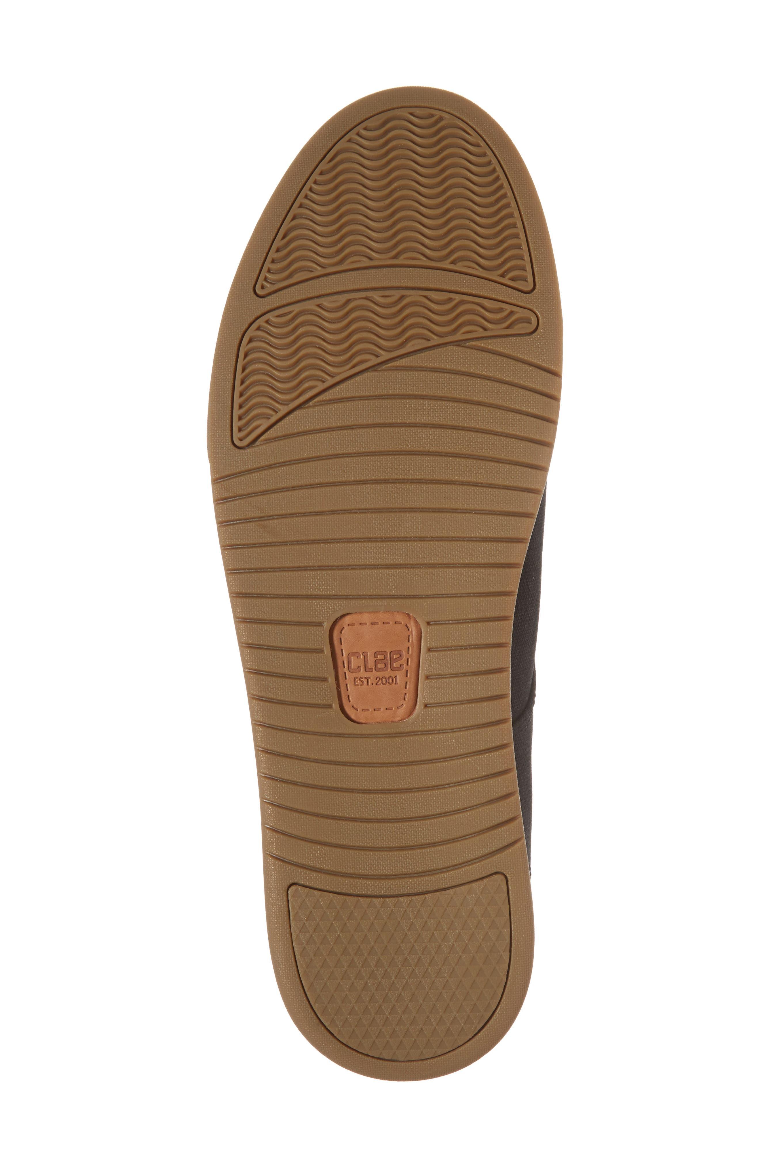 CLAE,                             Ellington Sneaker,                             Alternate thumbnail 6, color,                             BLACK WAXED CANVAS