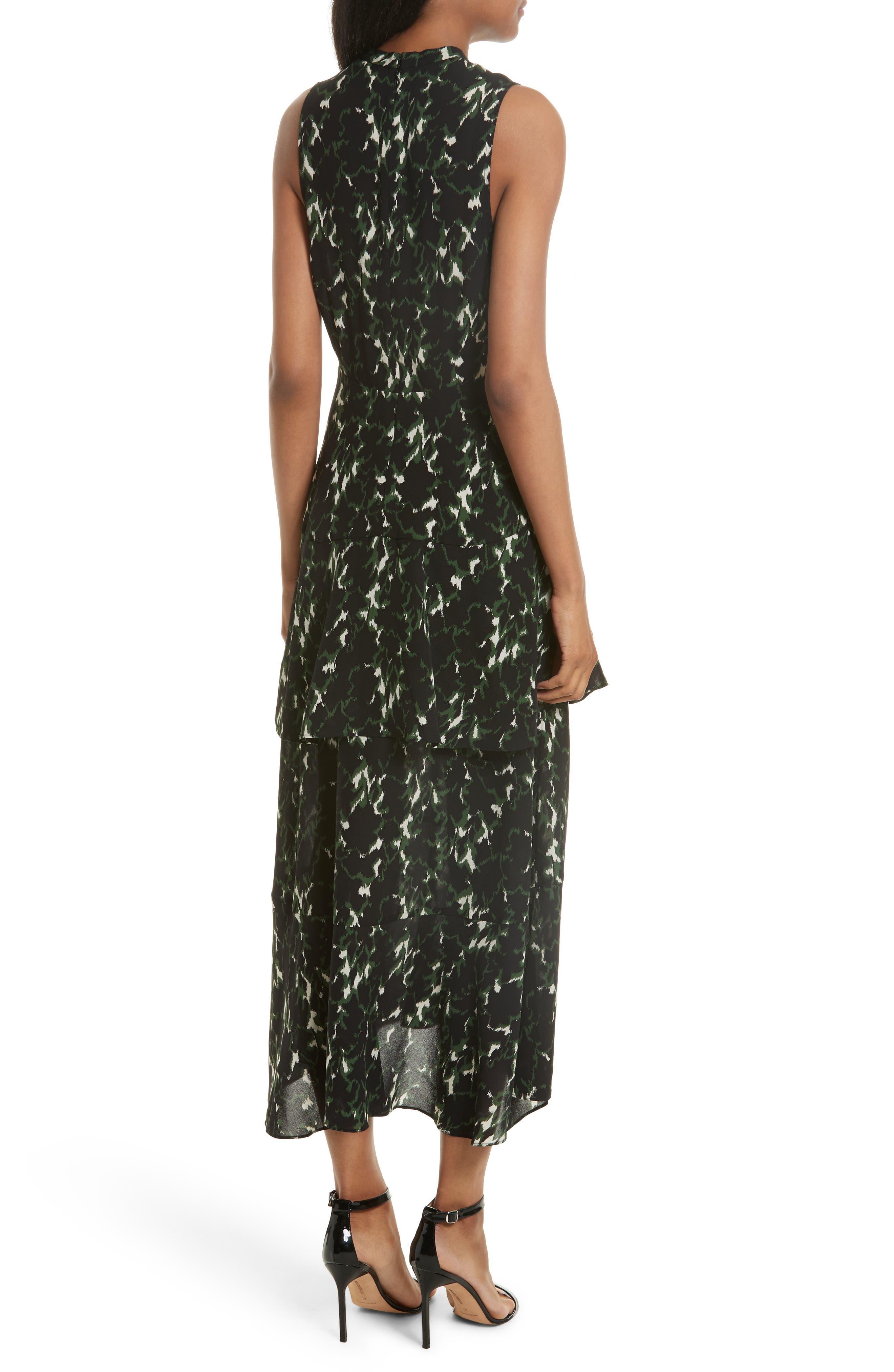 Wylon Print Silk Dress,                             Alternate thumbnail 2, color,                             301