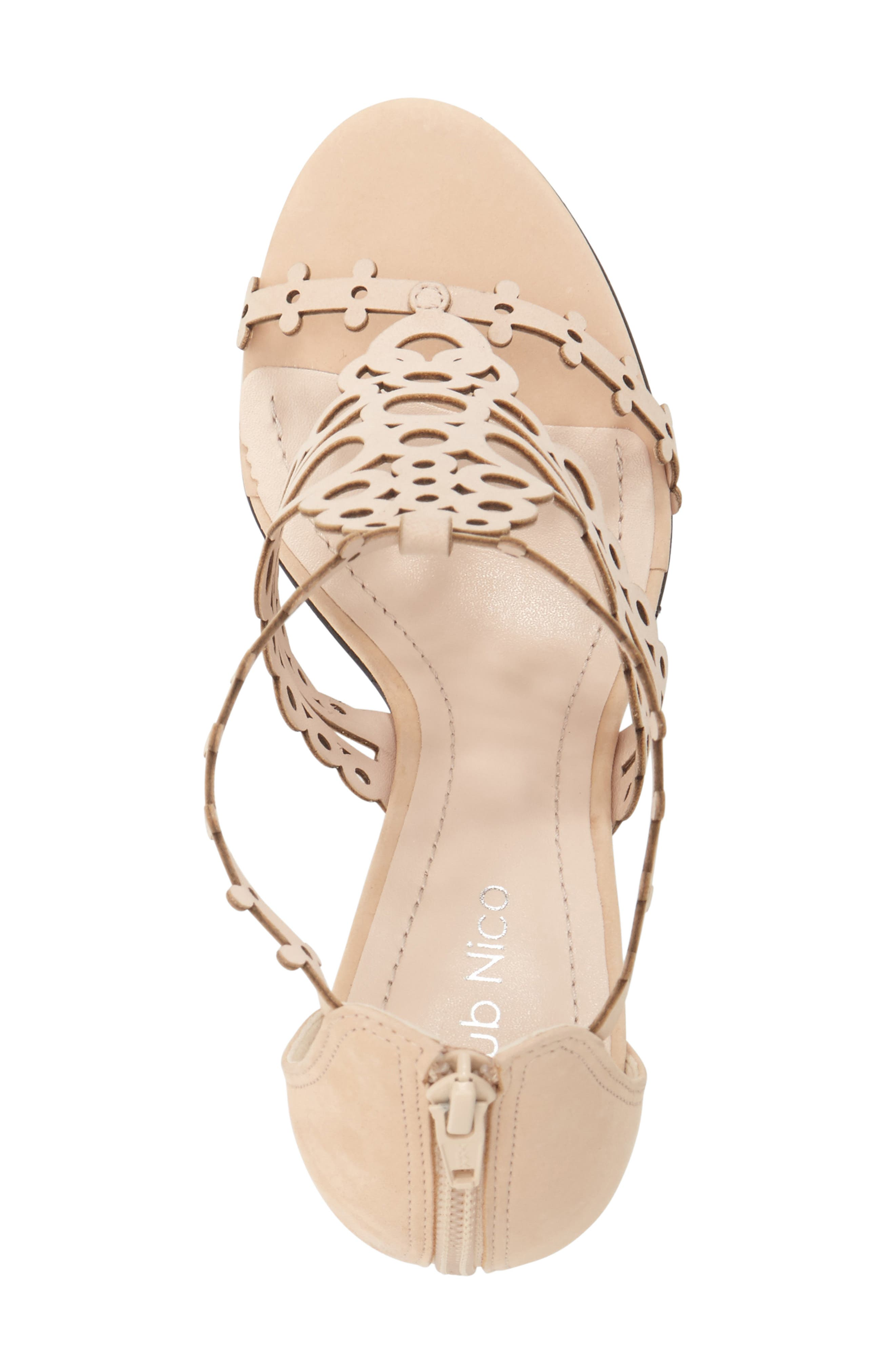 'Antonia' Laser Cut T-Strap Sandal,                             Alternate thumbnail 19, color,