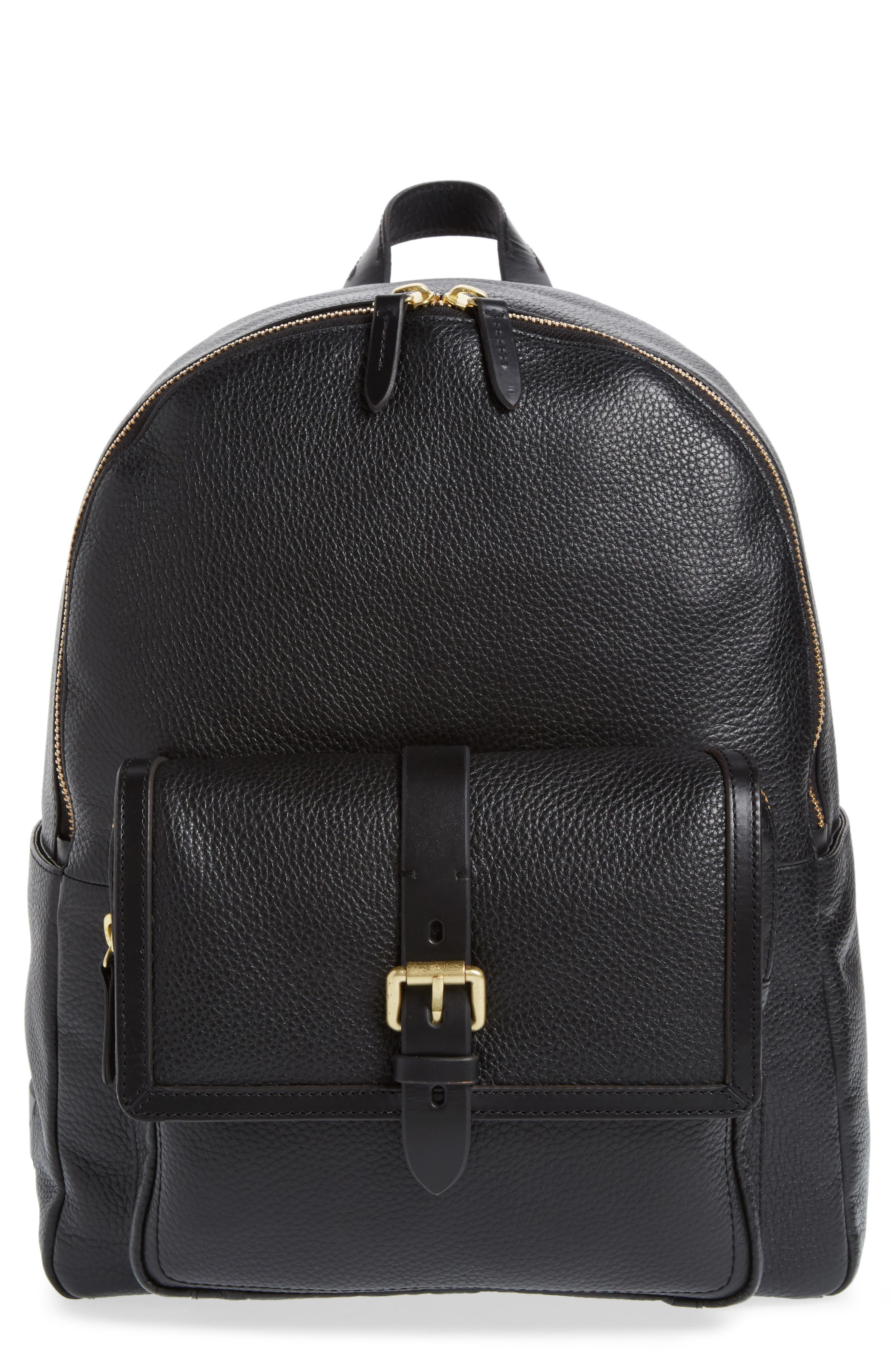 Brayton Leather Backpack,                         Main,                         color, 001