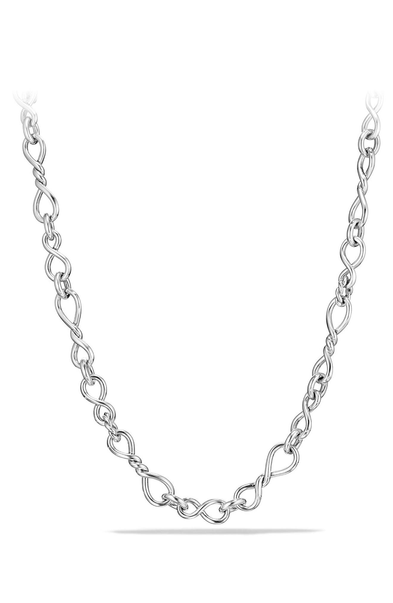 Continuance Medium Chain Necklace,                             Main thumbnail 1, color,                             SILVER