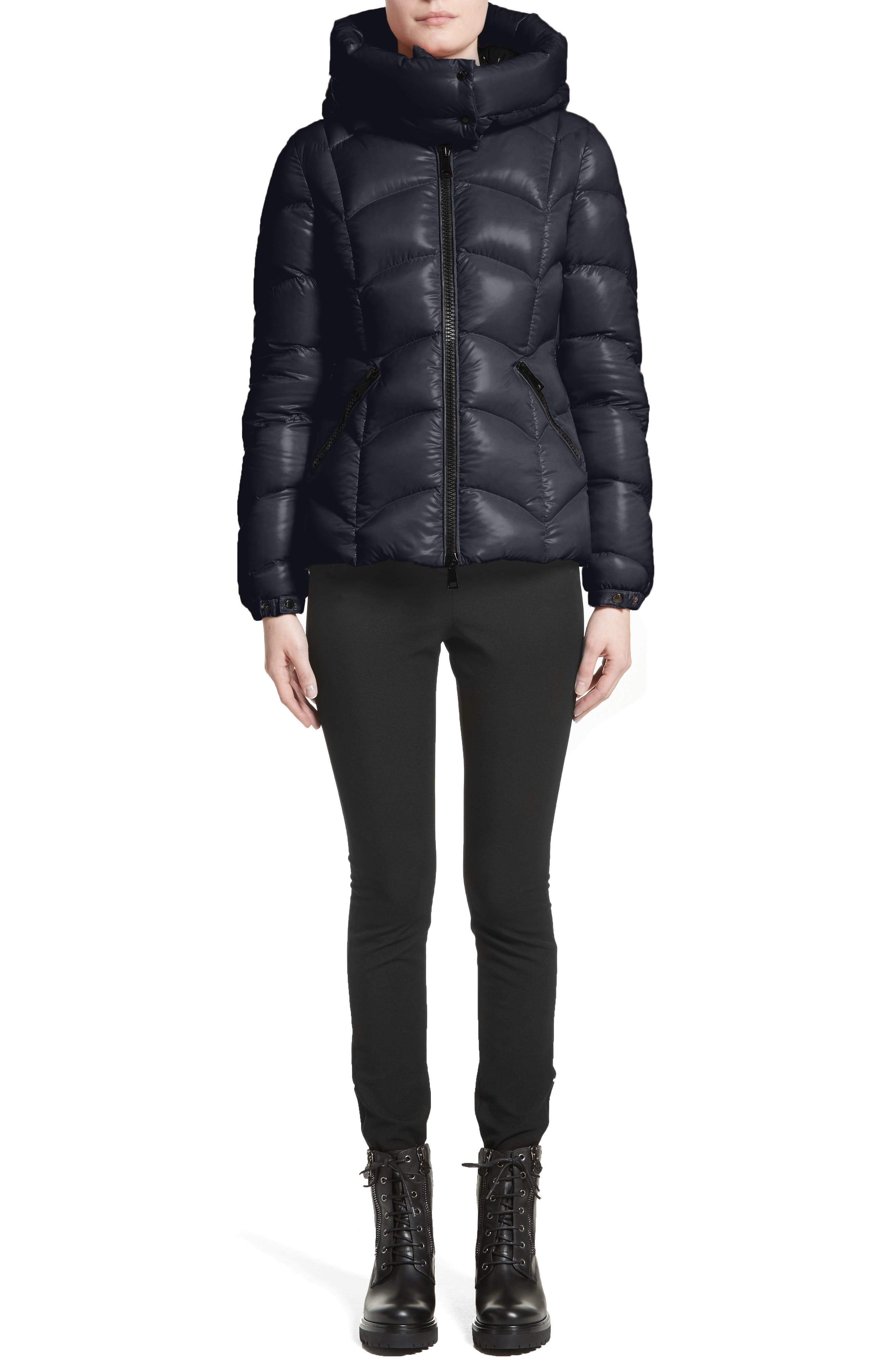 Akebia Quilted Down Jacket,                             Alternate thumbnail 7, color,                             NAVY