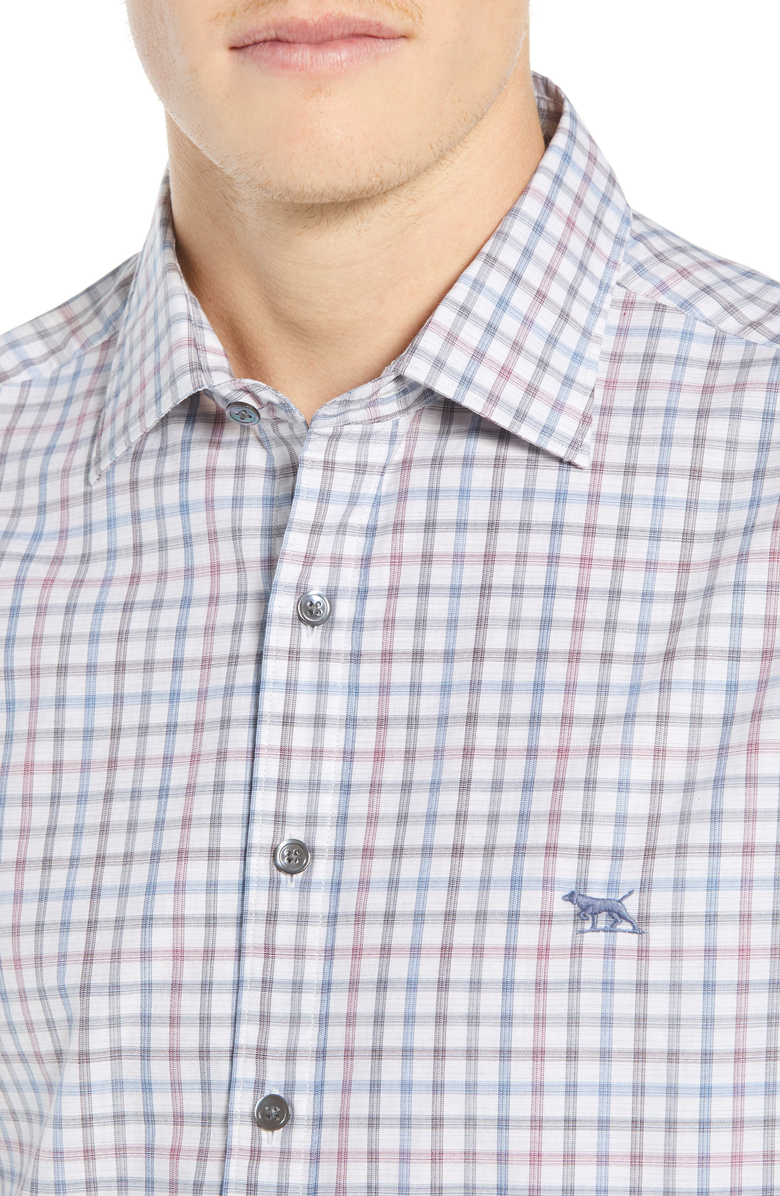 Port Hutt Regular Fit Check Sport Shirt,                             Alternate thumbnail 2, color,                             OYSTER