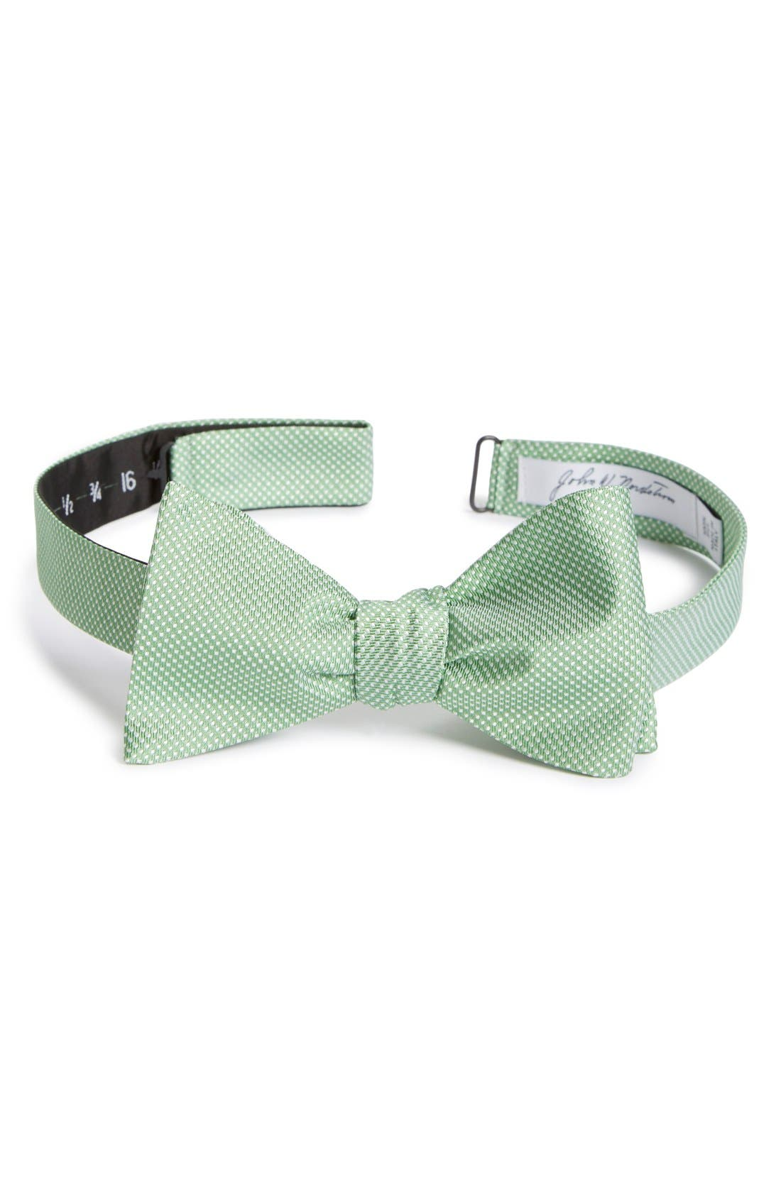 Dot Silk Bow Tie,                             Main thumbnail 3, color,