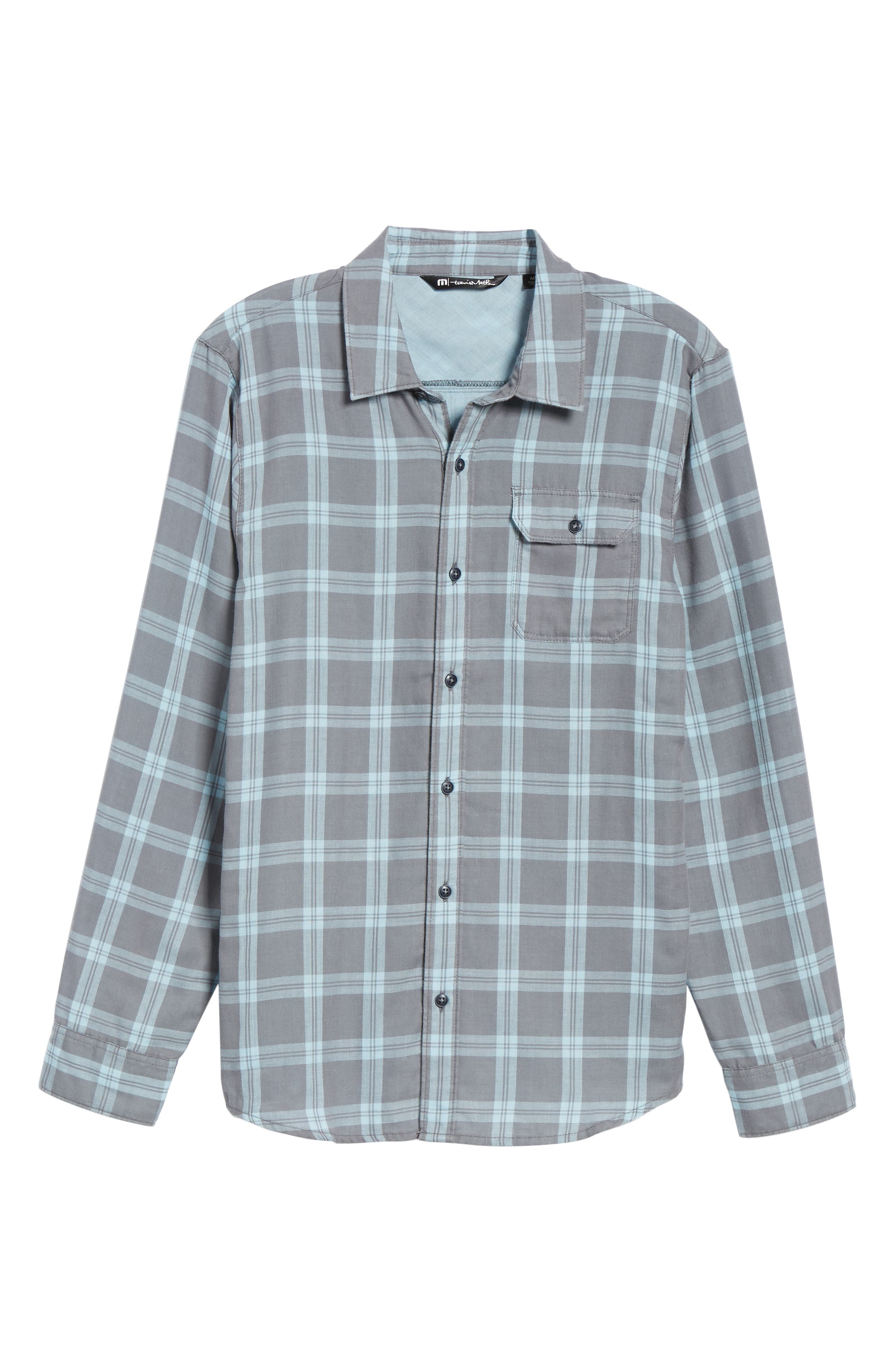 Thomas Regular Fit Check Sport Shirt,                             Alternate thumbnail 5, color,                             QUITE SHADE