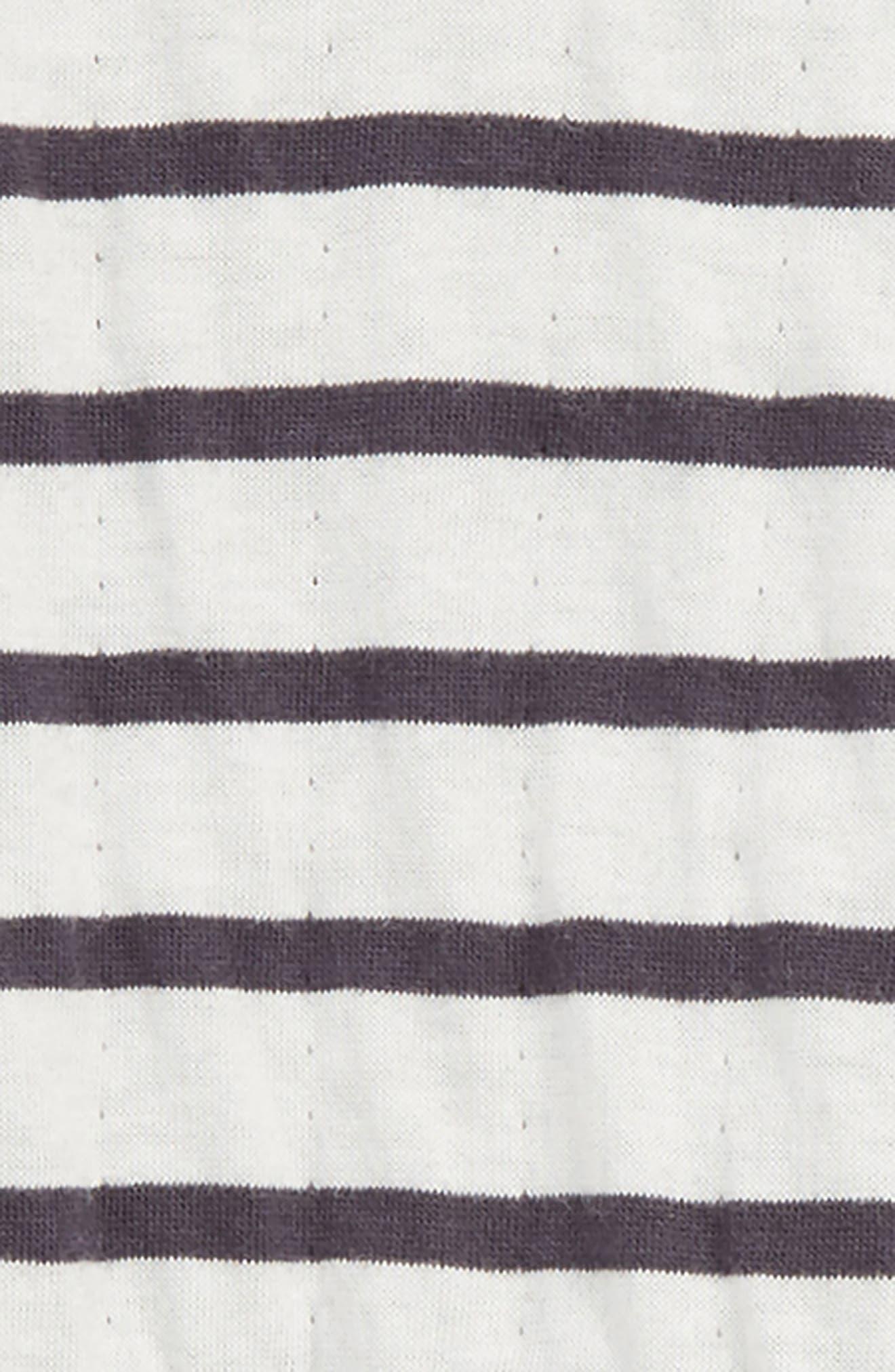 Reversible Double Knit T-Shirt & Pants Set,                             Alternate thumbnail 2, color,                             BLACK BRETON STRIPE