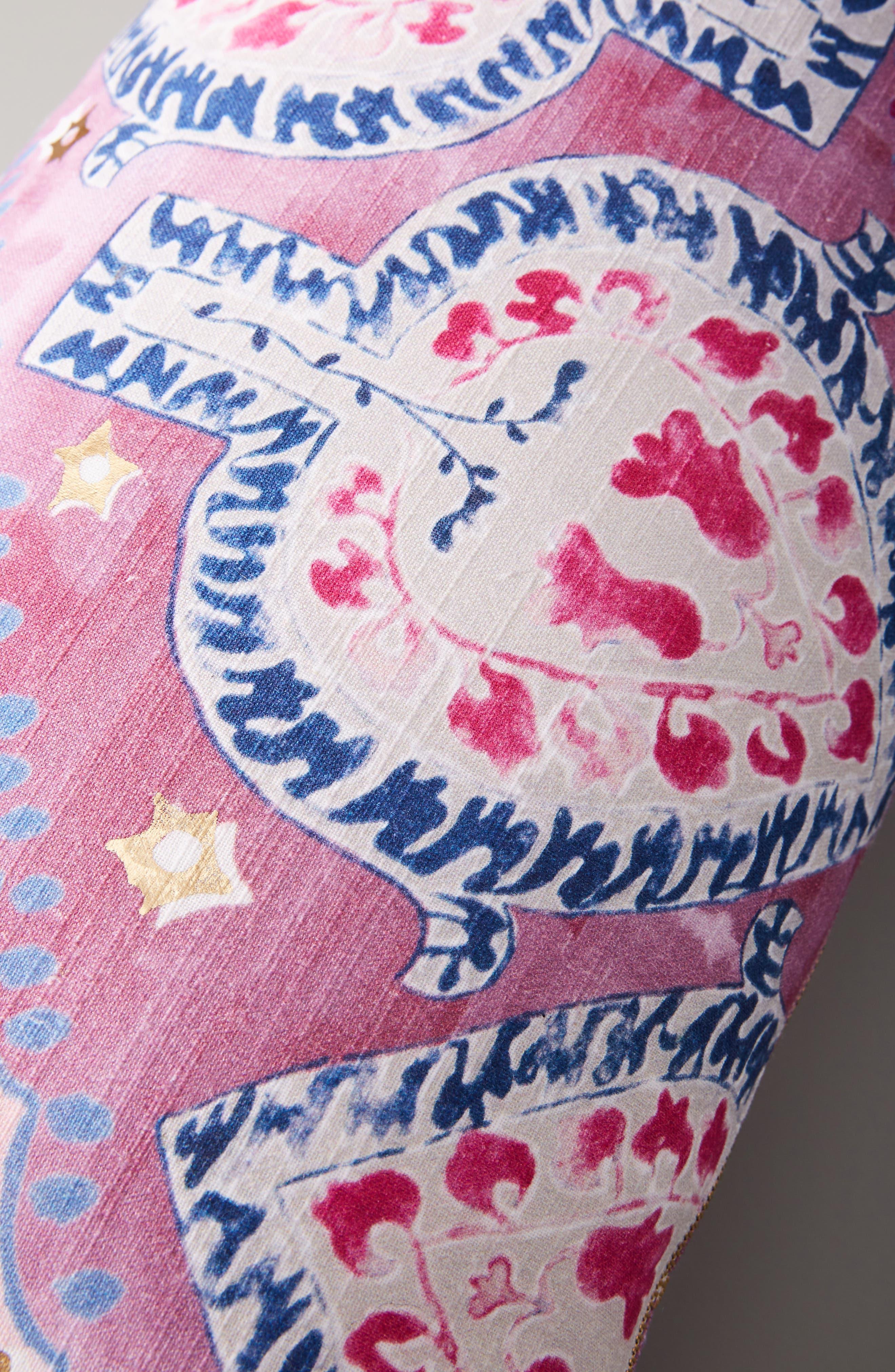 Piper Lumbar Pillow,                             Alternate thumbnail 3, color,                             PERIWINKLE