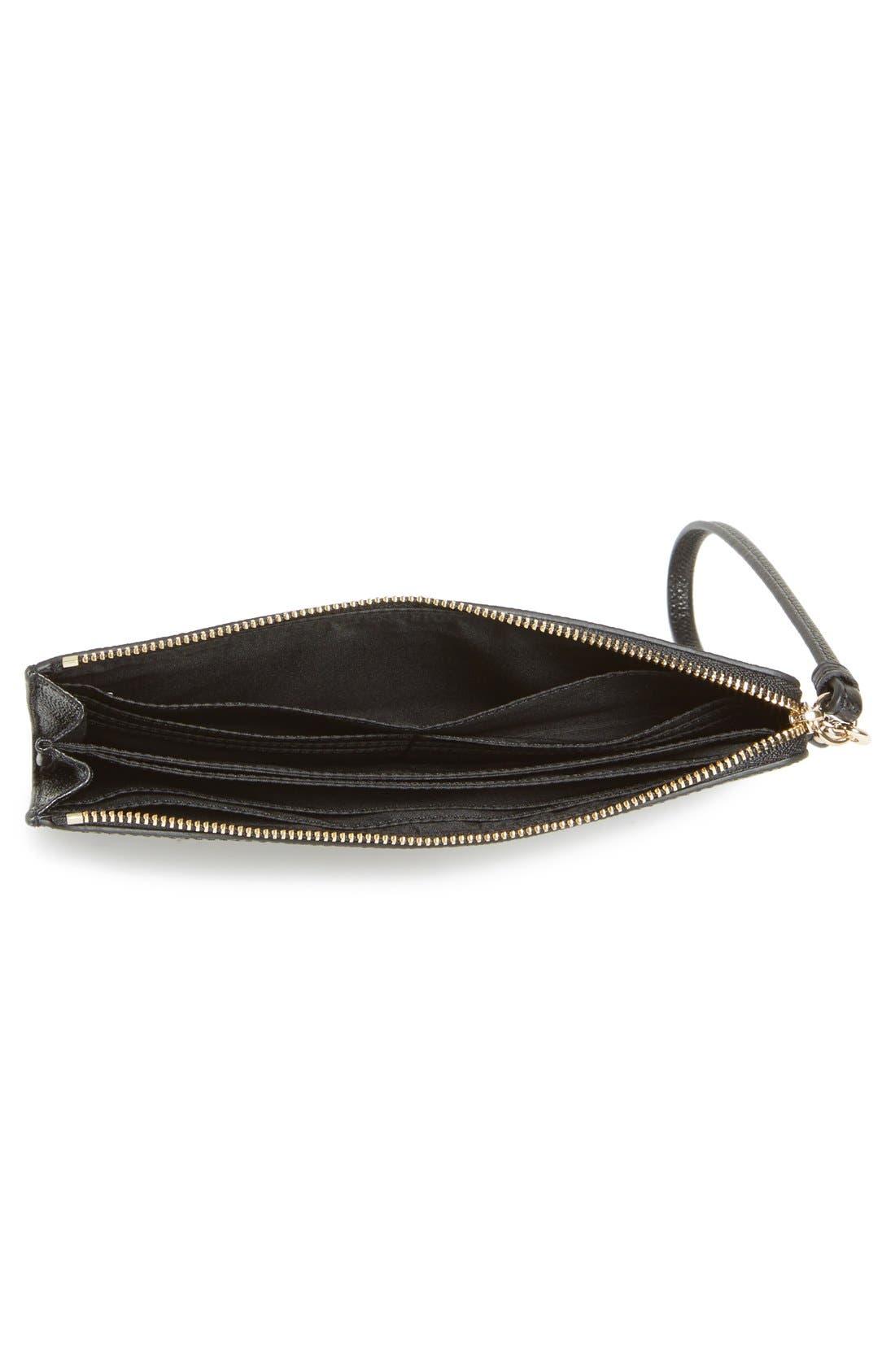 'Zippy' Leather Wallet,                             Alternate thumbnail 3, color,                             001