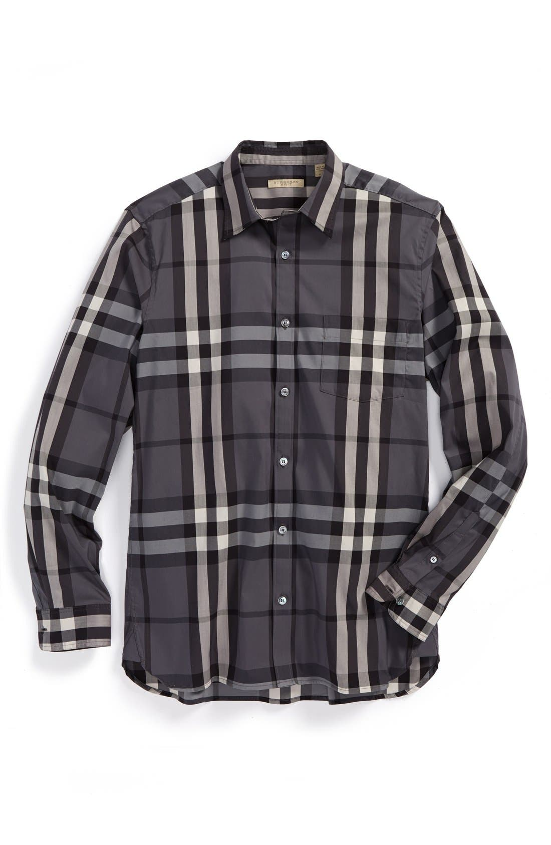 Nelson Check Sport Shirt,                             Main thumbnail 6, color,