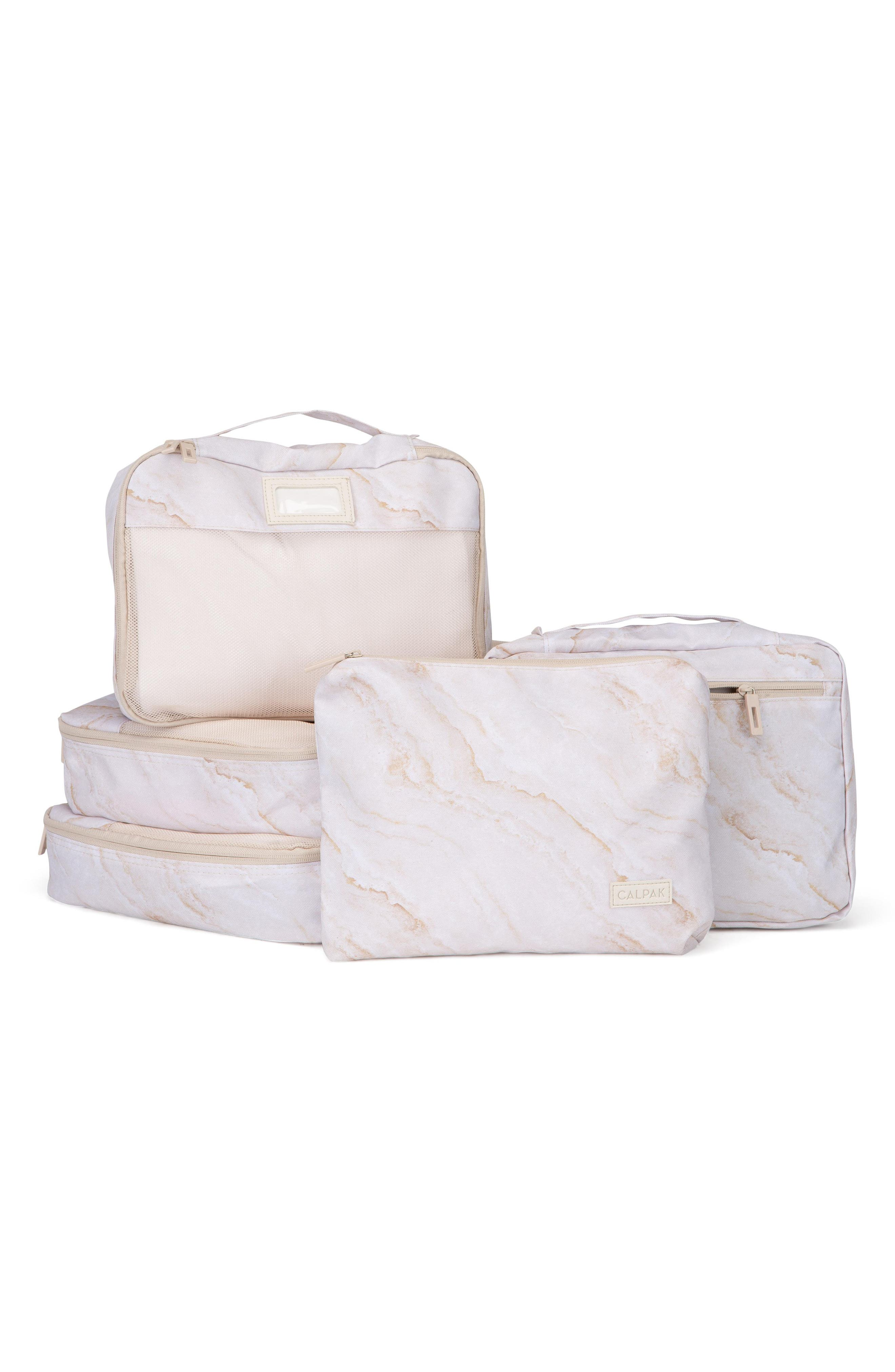 5-Piece Packing Cube Set,                             Main thumbnail 1, color,                             GOLD MARBLE