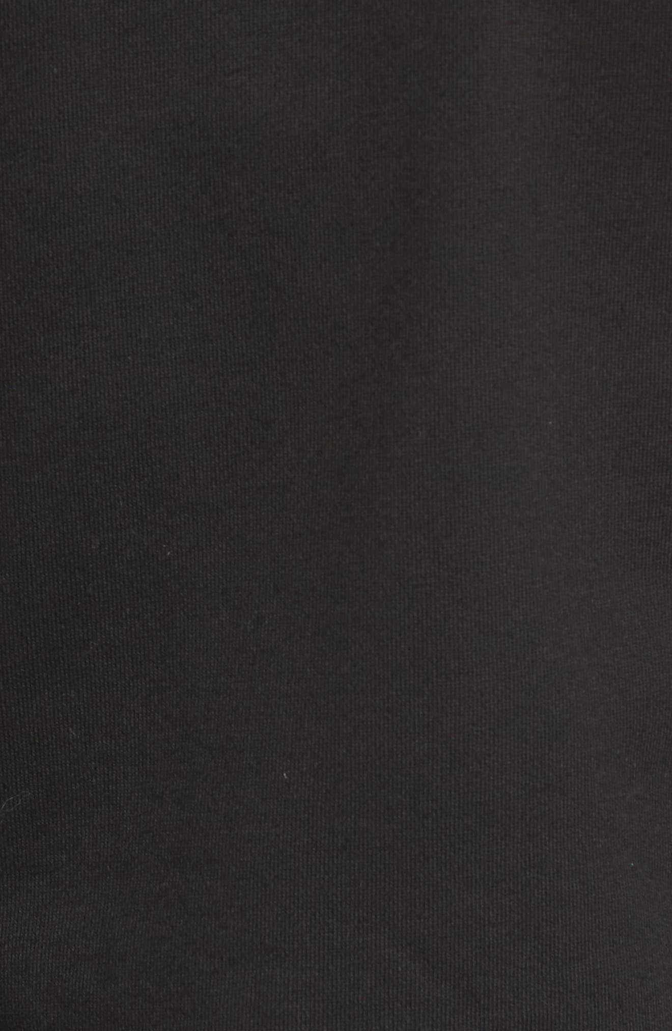 Ruffle Chiffon Hoodie,                             Alternate thumbnail 5, color,                             001