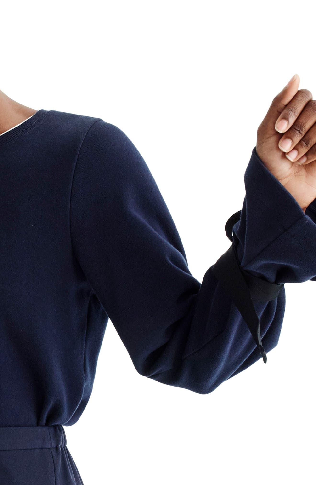 Tie Sleeve Sweatshirt,                             Alternate thumbnail 4, color,
