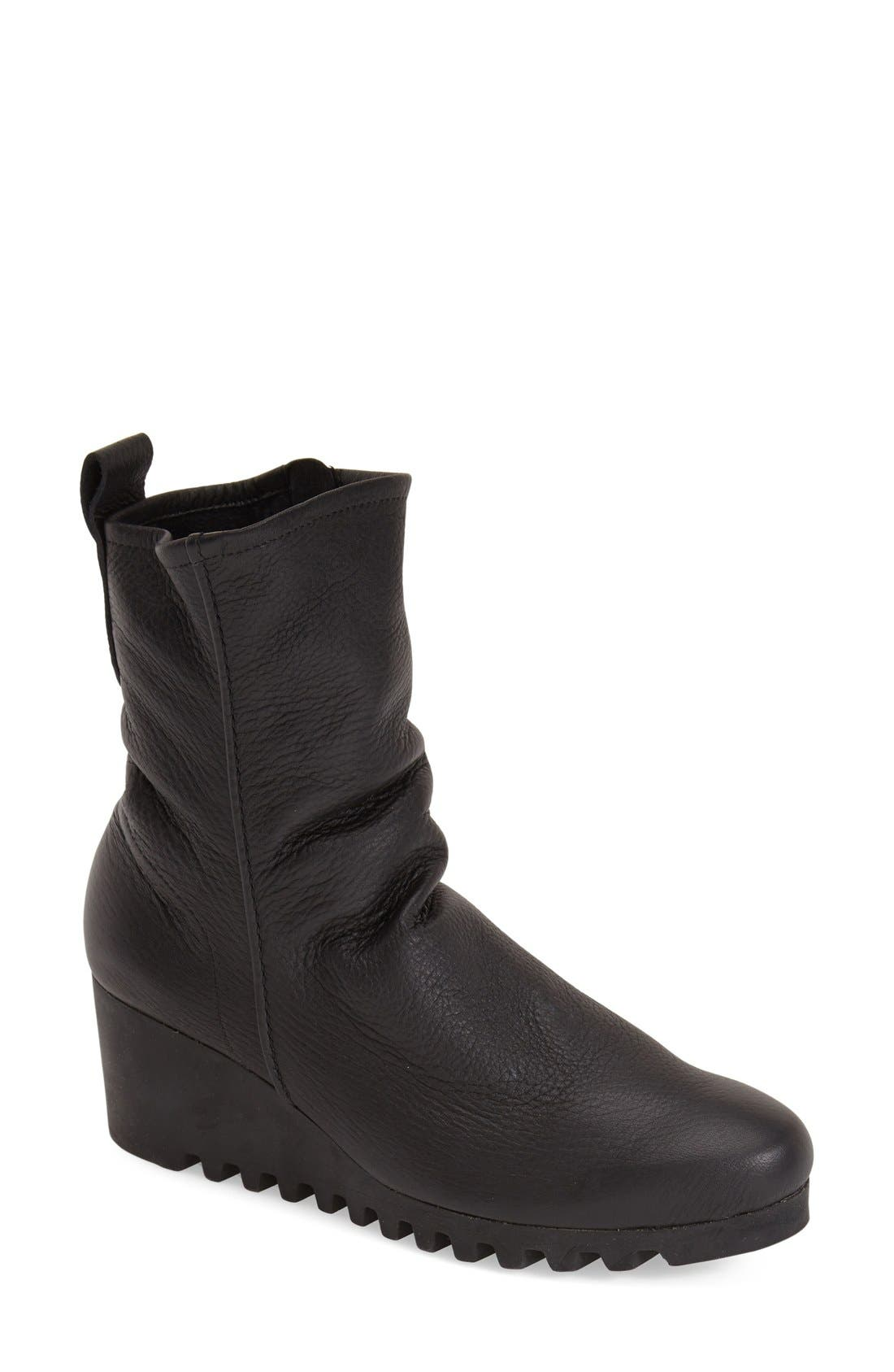 'Larazo' Bootie,                         Main,                         color, BLACK LEATHER