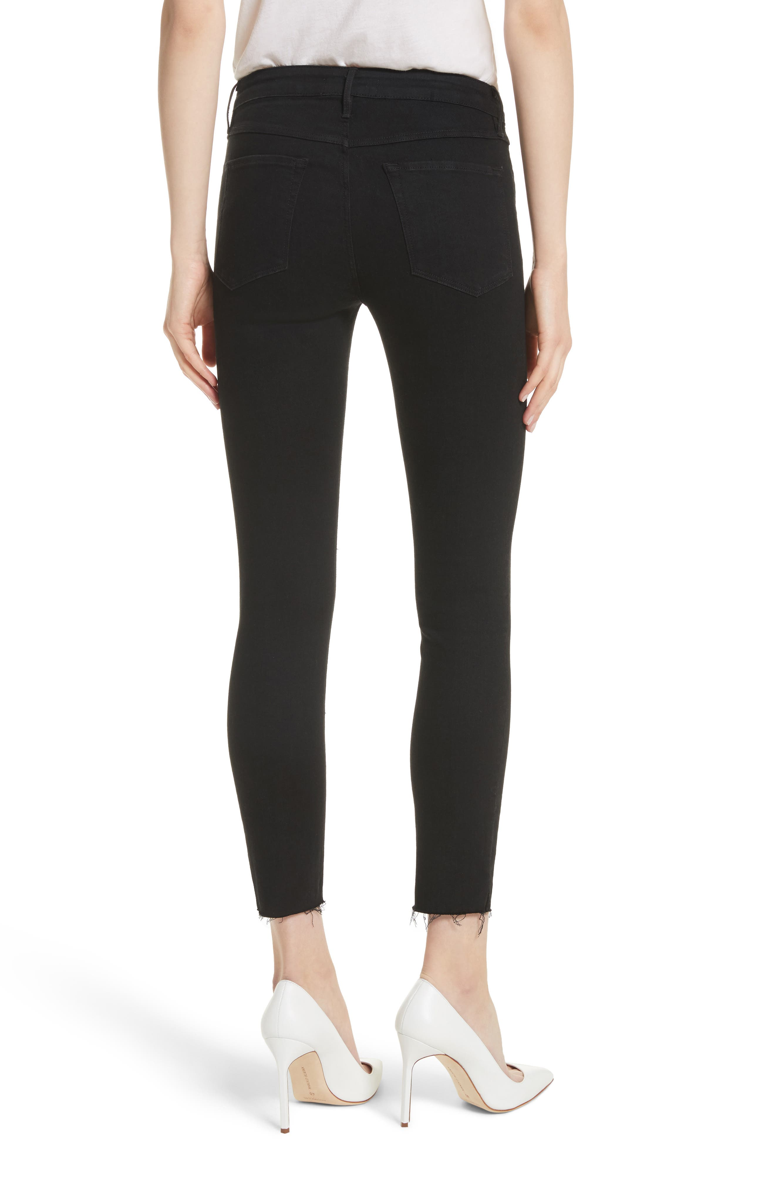W2 Crop Skinny Jeans,                             Alternate thumbnail 2, color,                             BLACK TEAR