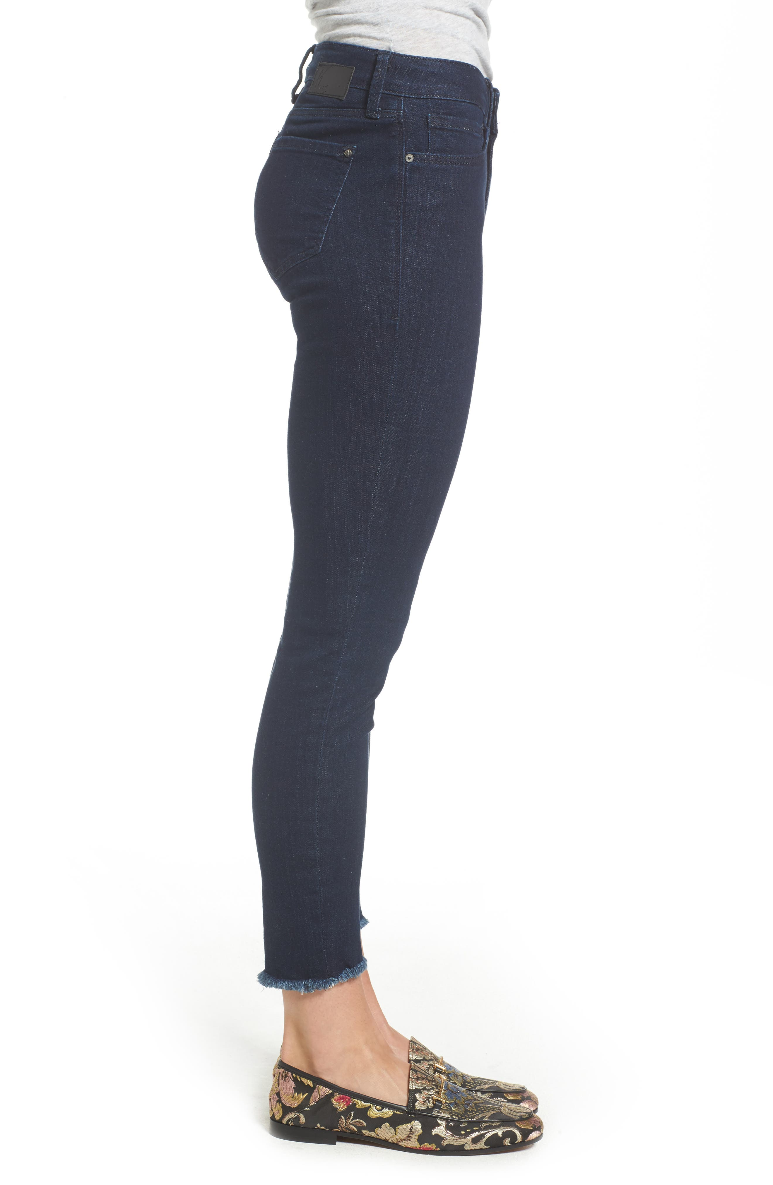 Adriana Ankle Skinny Jeans,                             Alternate thumbnail 3, color,                             RINSE TRIBECA