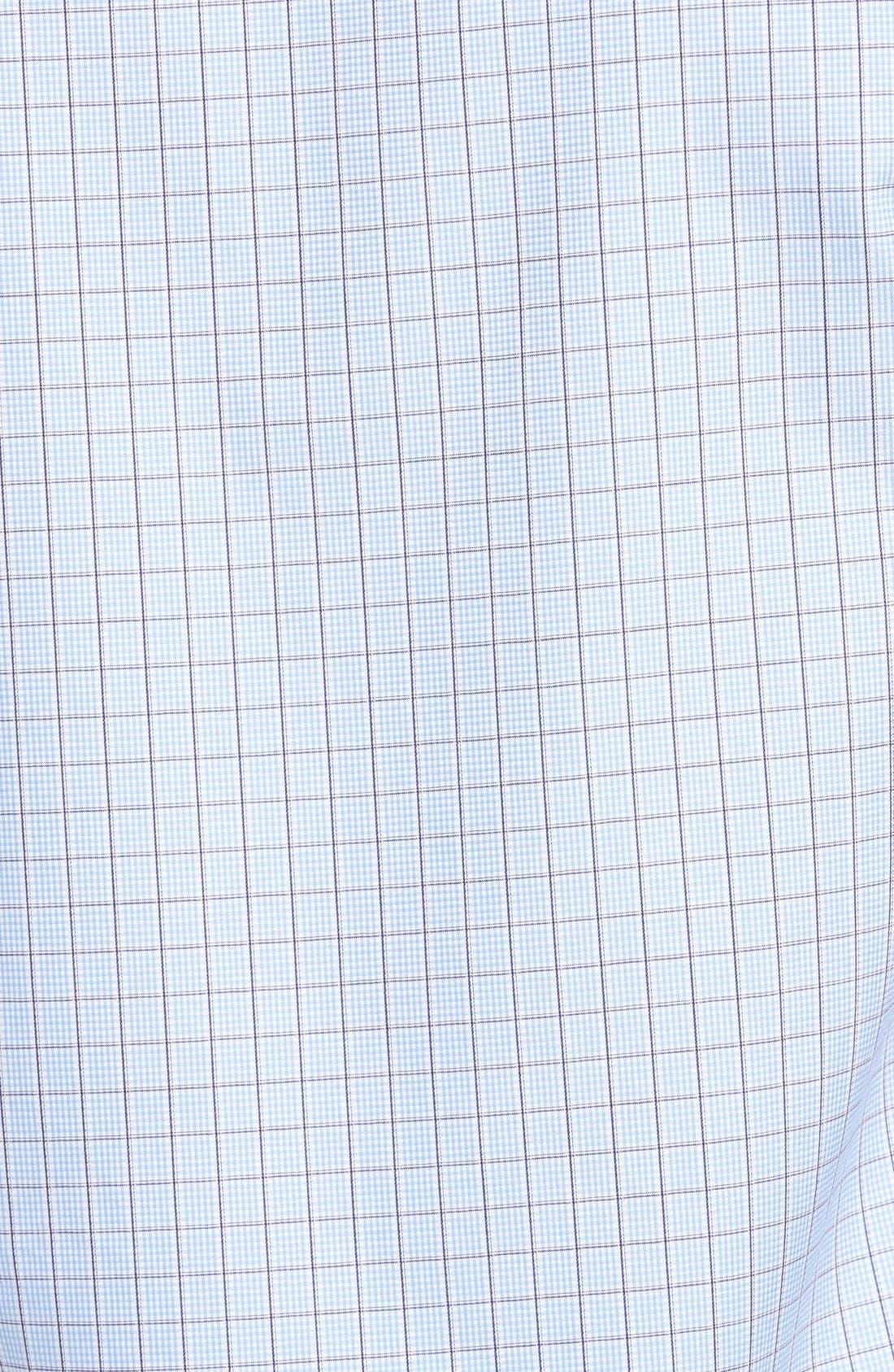 Shaped Fit Tattersall Sport Shirt,                             Alternate thumbnail 5, color,                             459
