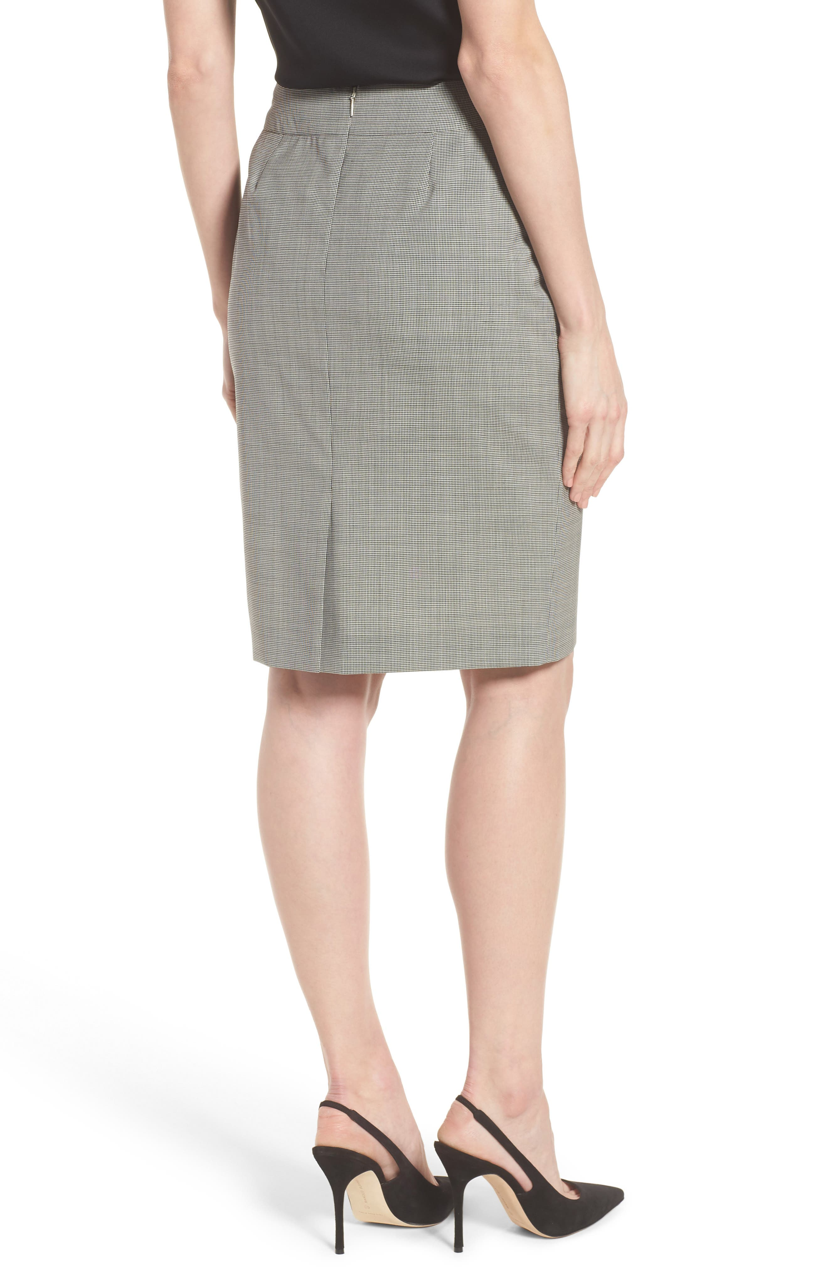 Vavilla Stretch Wool Suit Skirt,                             Alternate thumbnail 3, color,