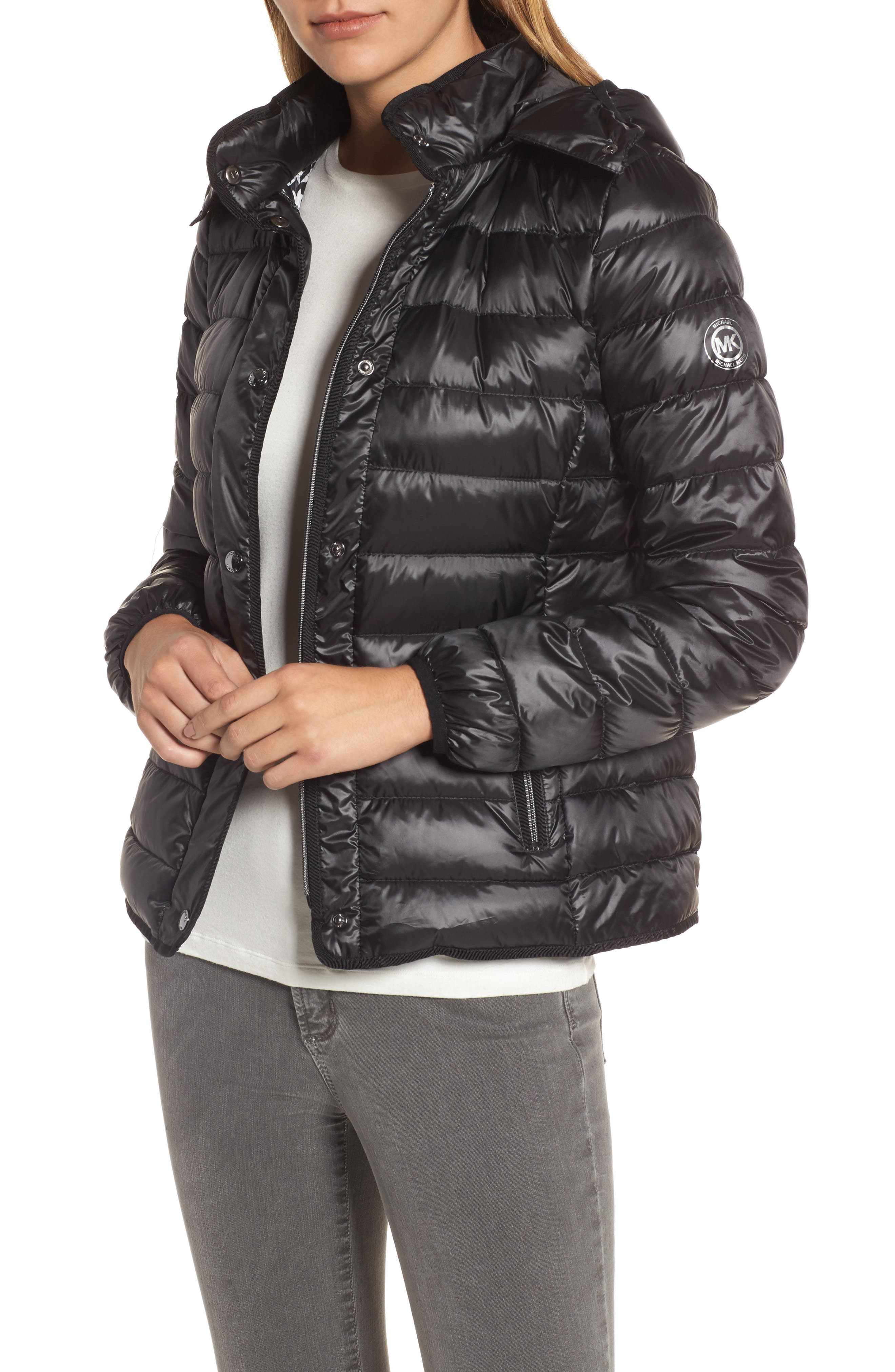 Packable Insulated Jacket with Removable Hood,                         Main,                         color, 001