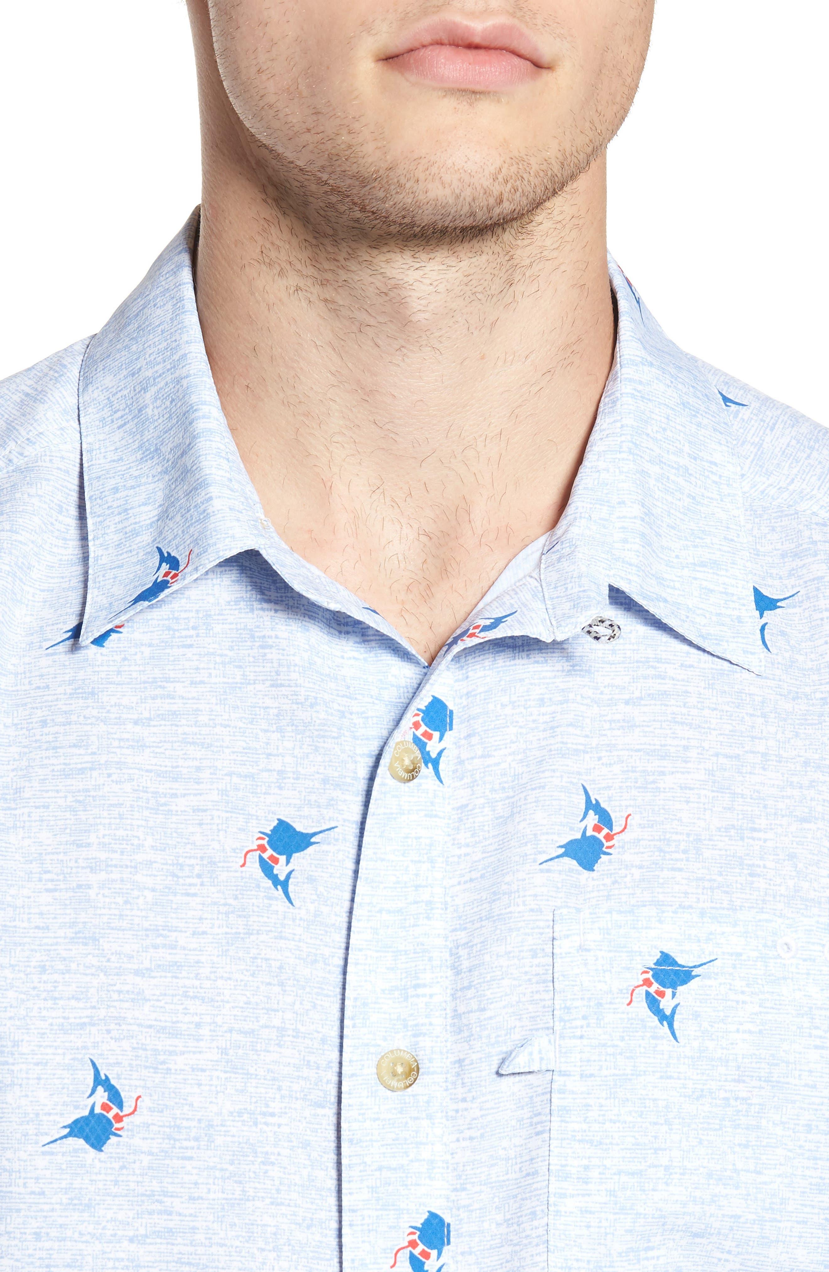 Super Slack Tide Patterned Woven Shirt,                             Alternate thumbnail 19, color,