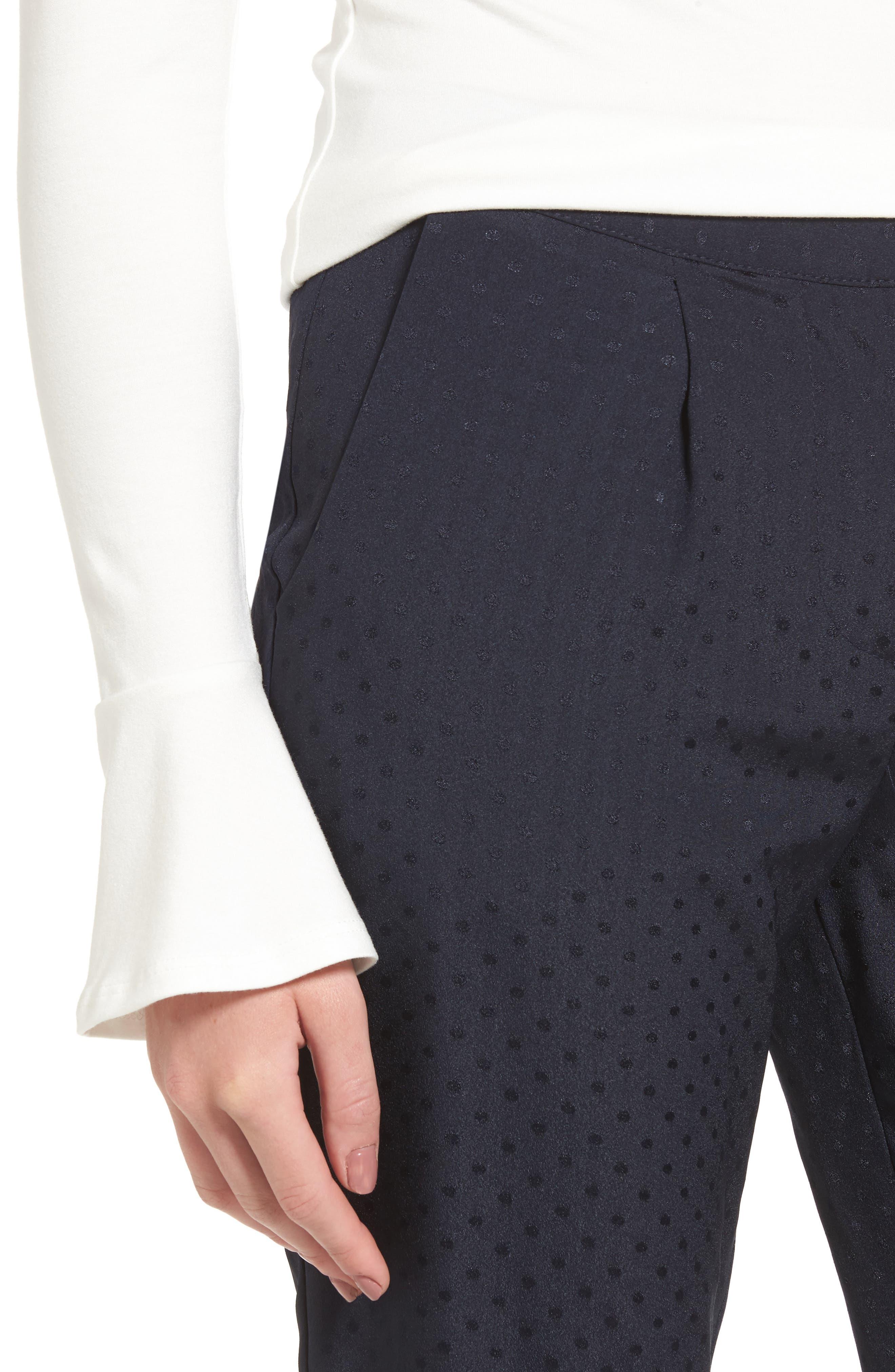 Tonal Dot Slim Pants,                             Alternate thumbnail 4, color,                             415