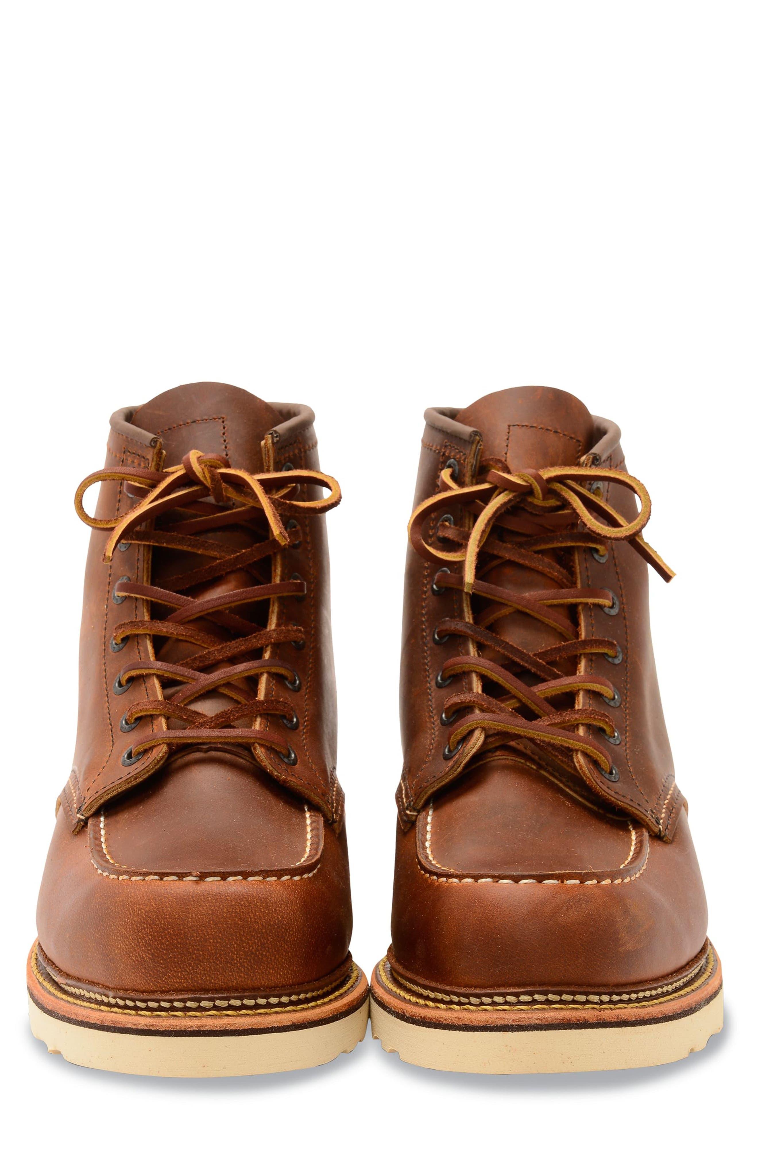 Moc Toe Boot,                             Alternate thumbnail 3, color,                             COPPER BROWN- 1907