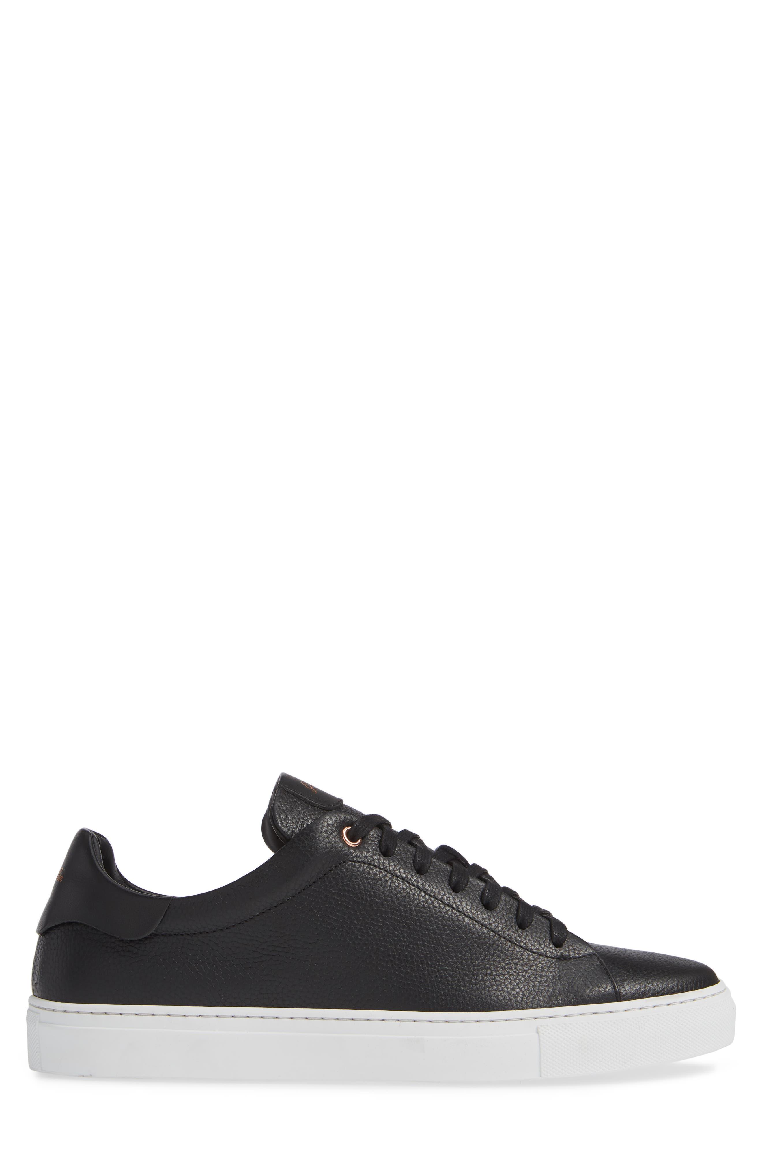 Legend Low Top Sneaker,                             Alternate thumbnail 3, color,                             BLACK PEBBLE LEATHER