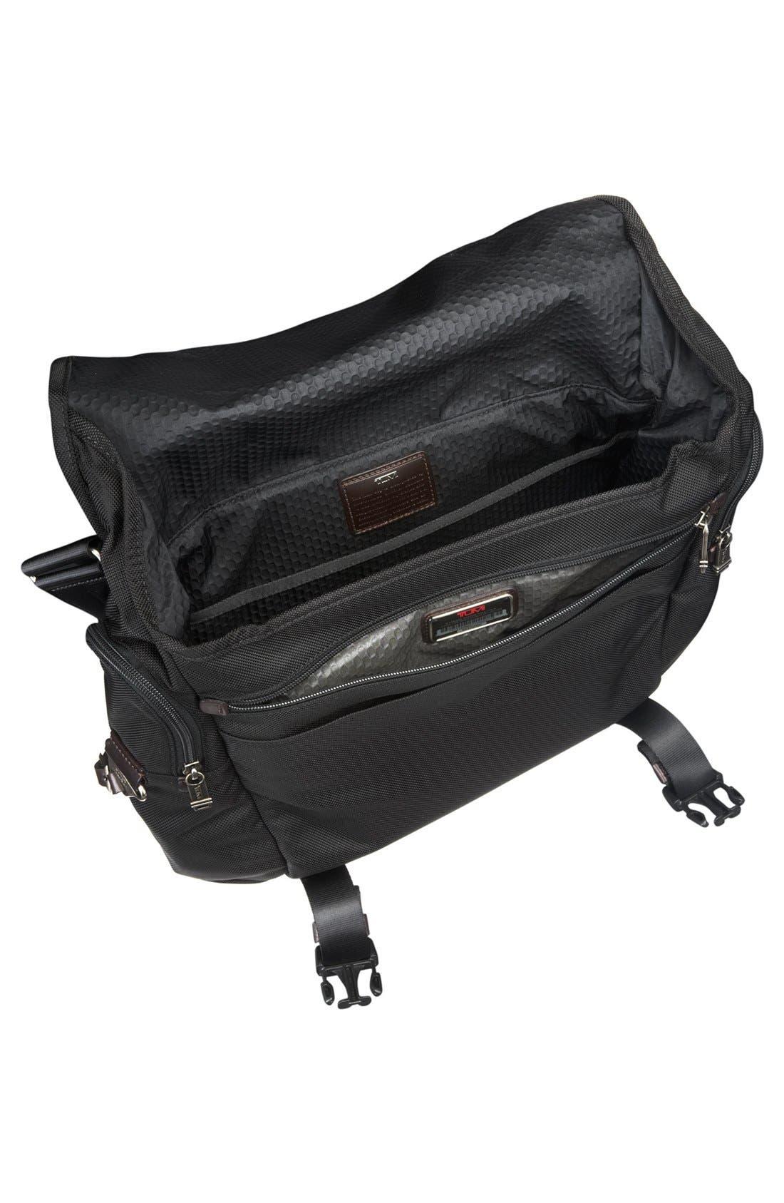 'Alpha Bravo - Benning' Deluxe Messenger Bag,                             Alternate thumbnail 3, color,                             001
