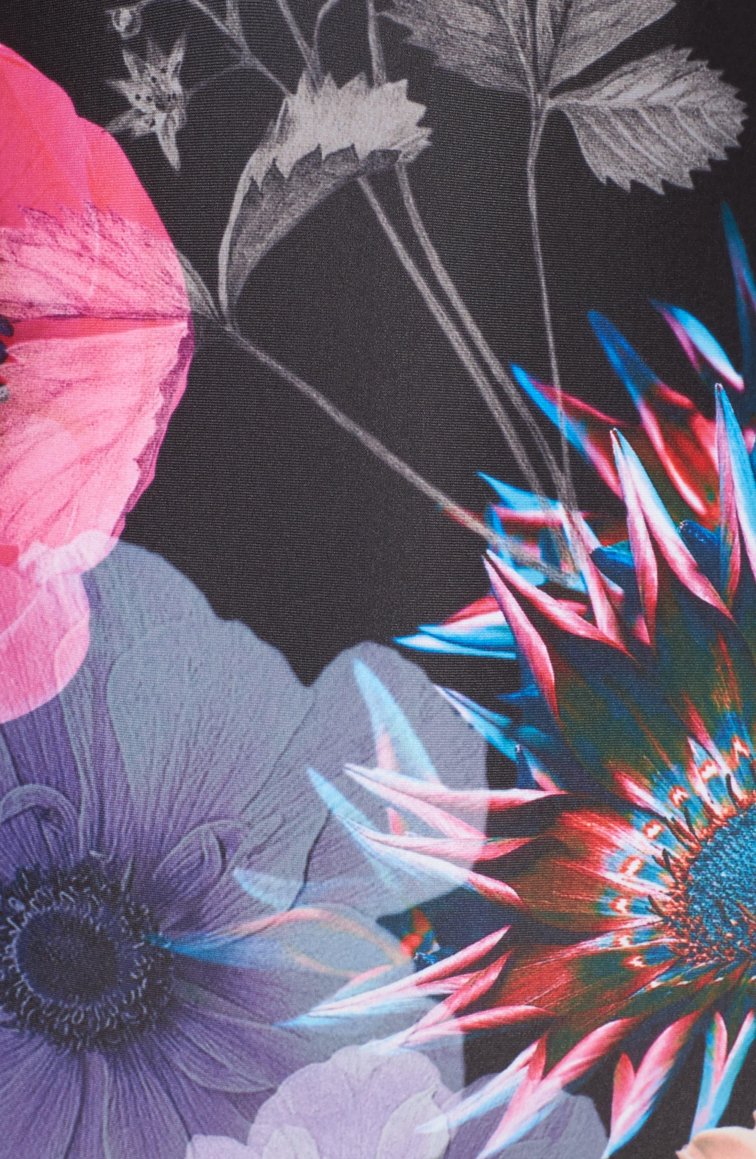 Neon Poppy One-Piece Swimsuit,                             Alternate thumbnail 5, color,                             001