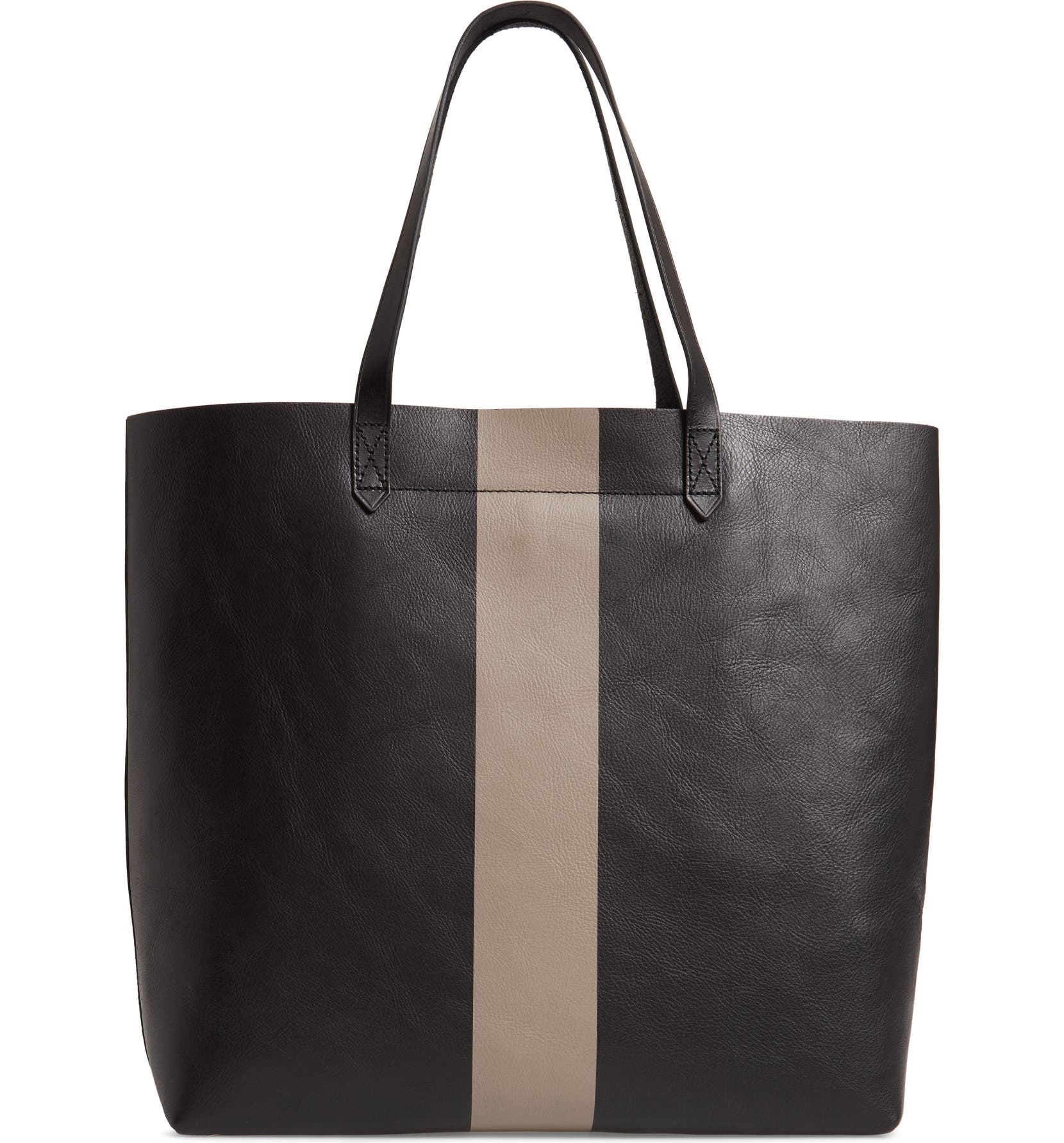 6b472f263de8 Madewell Paint Stripe Transport Leather Tote