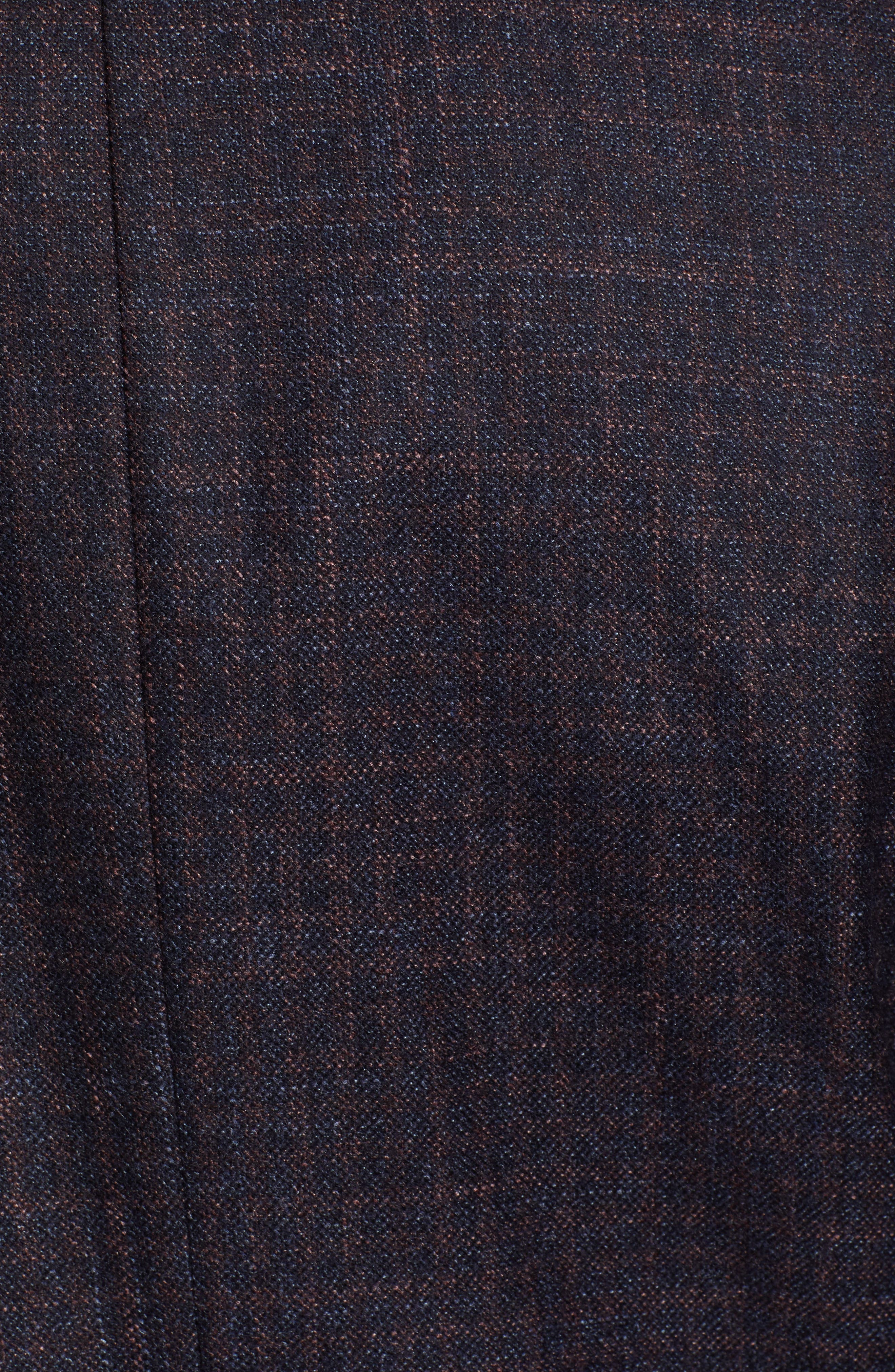 Classic Fit Wool Blazer,                             Alternate thumbnail 6, color,                             NAVY/ BERRY