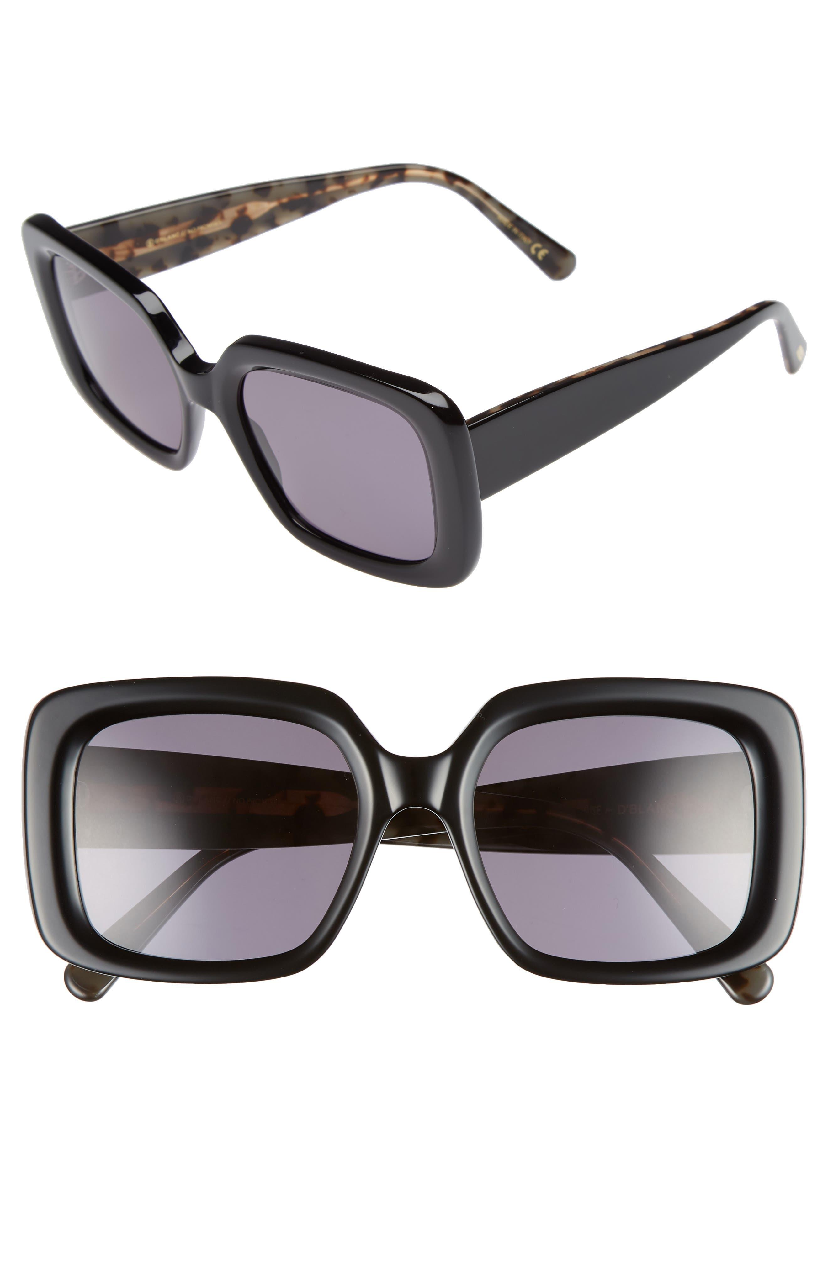 D'BLANC No Promises 53mm Sunglasses,                         Main,                         color, 001