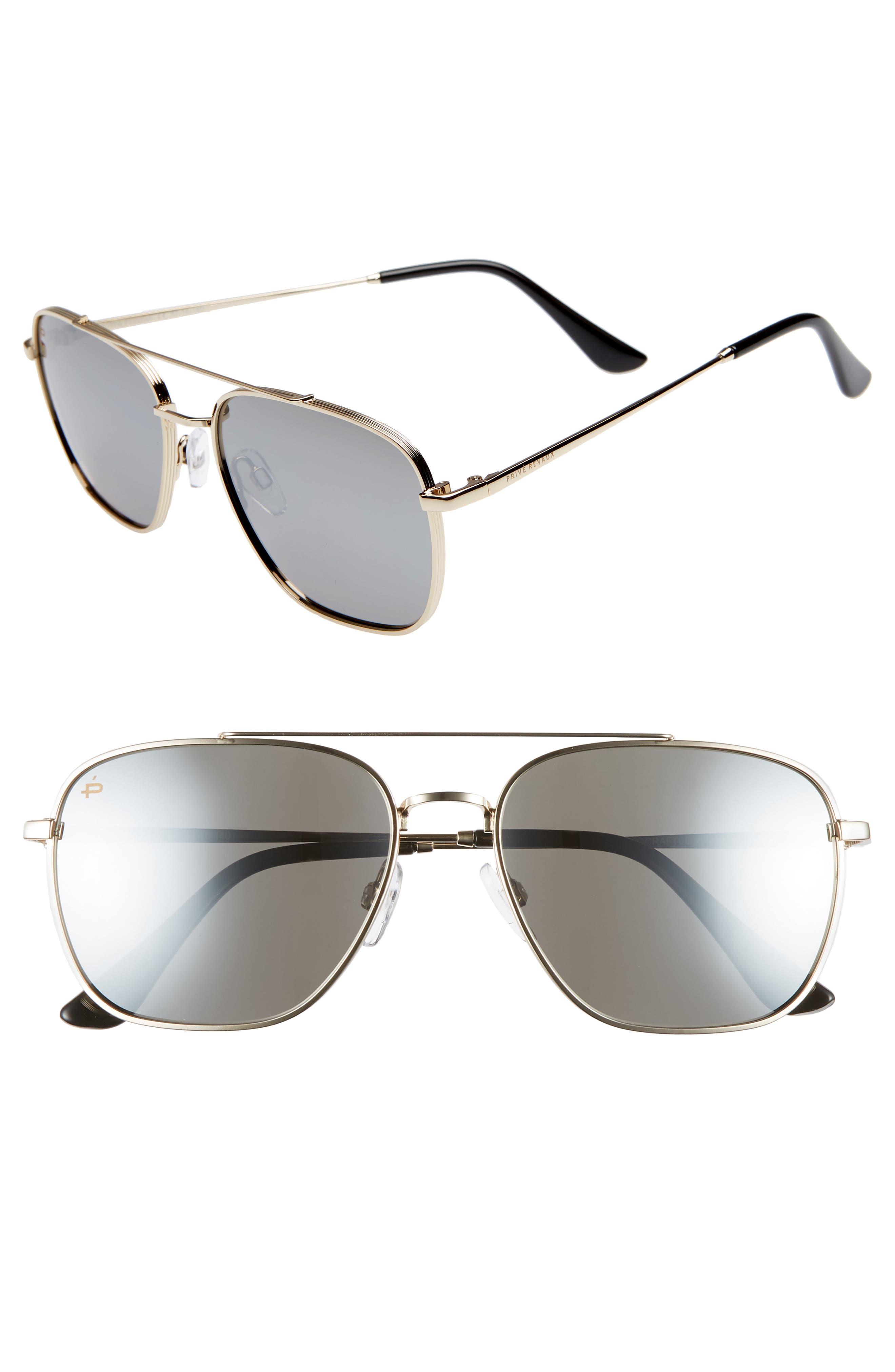 The Floridian Polarized 57mm Sunglasses,                             Main thumbnail 1, color,                             001
